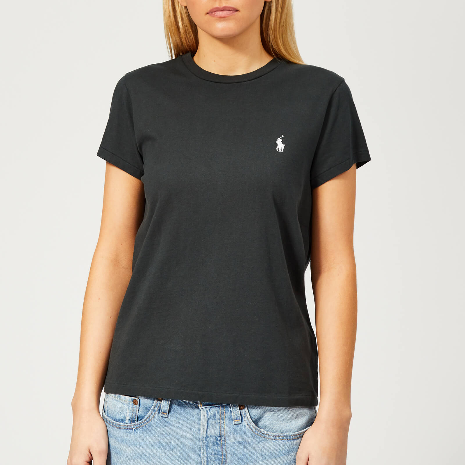fd584695b Polo Ralph Lauren Women's Short Sleeve T-Shirt - Black - Free UK Delivery  over £50