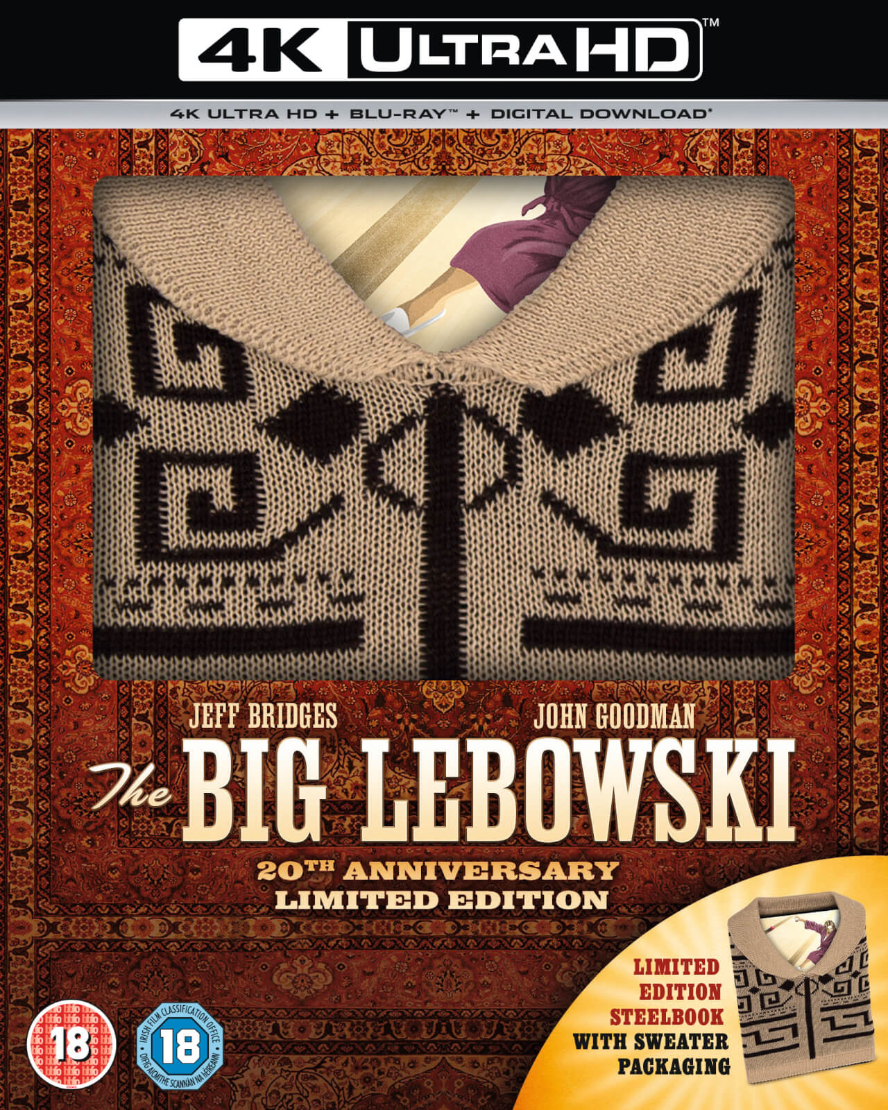 The Big Lebowski: Inkl. Pullover - Zavvi Exklusives 4K Ultra HD & Blu-ray Steelbook