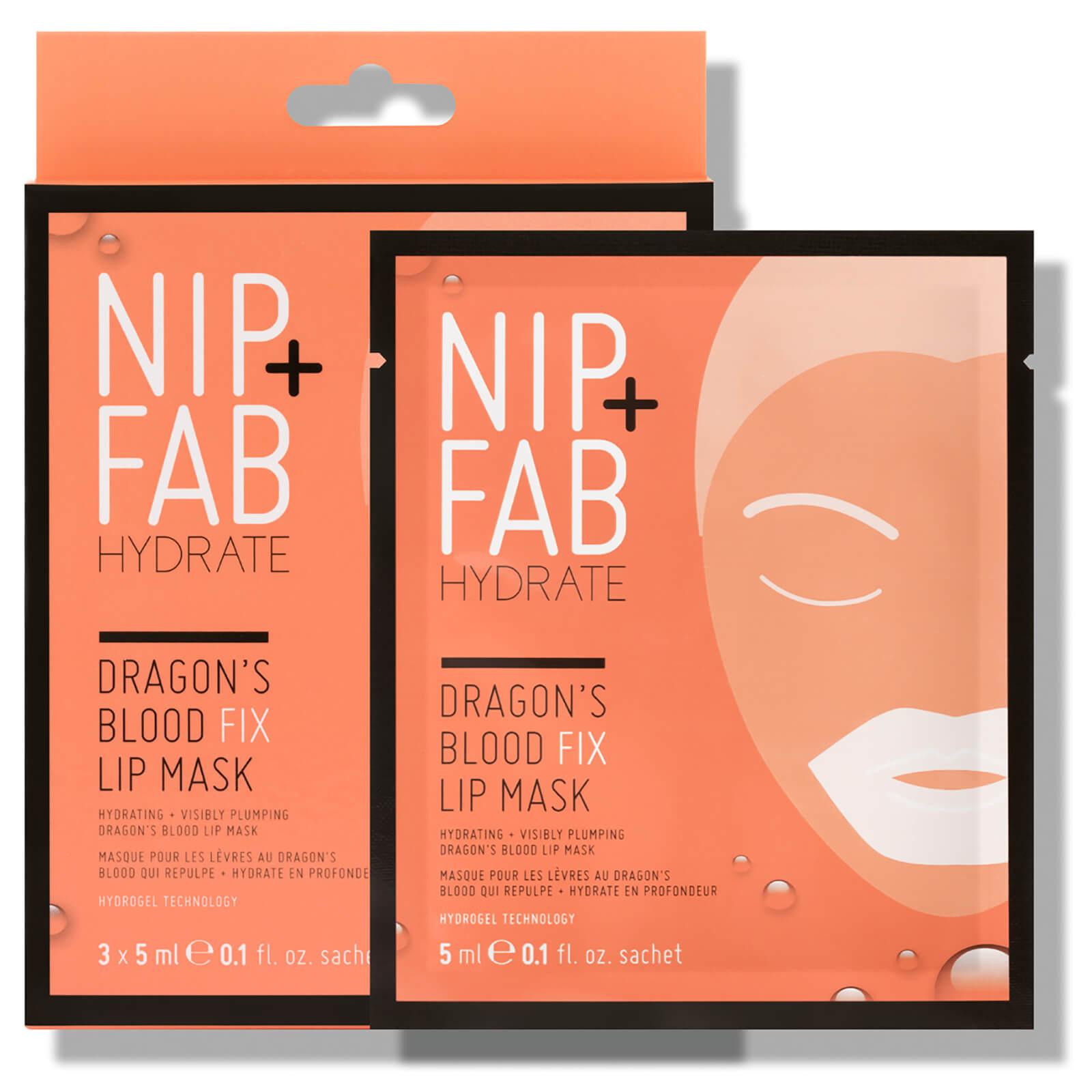 NIP+FAB Dragon's Blood Fix Lip Masks (Pack of 3)
