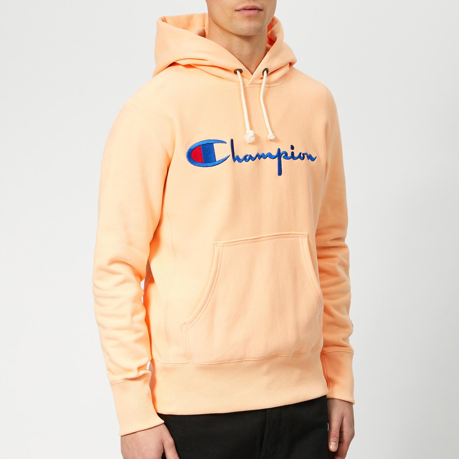 peach champion hoodie