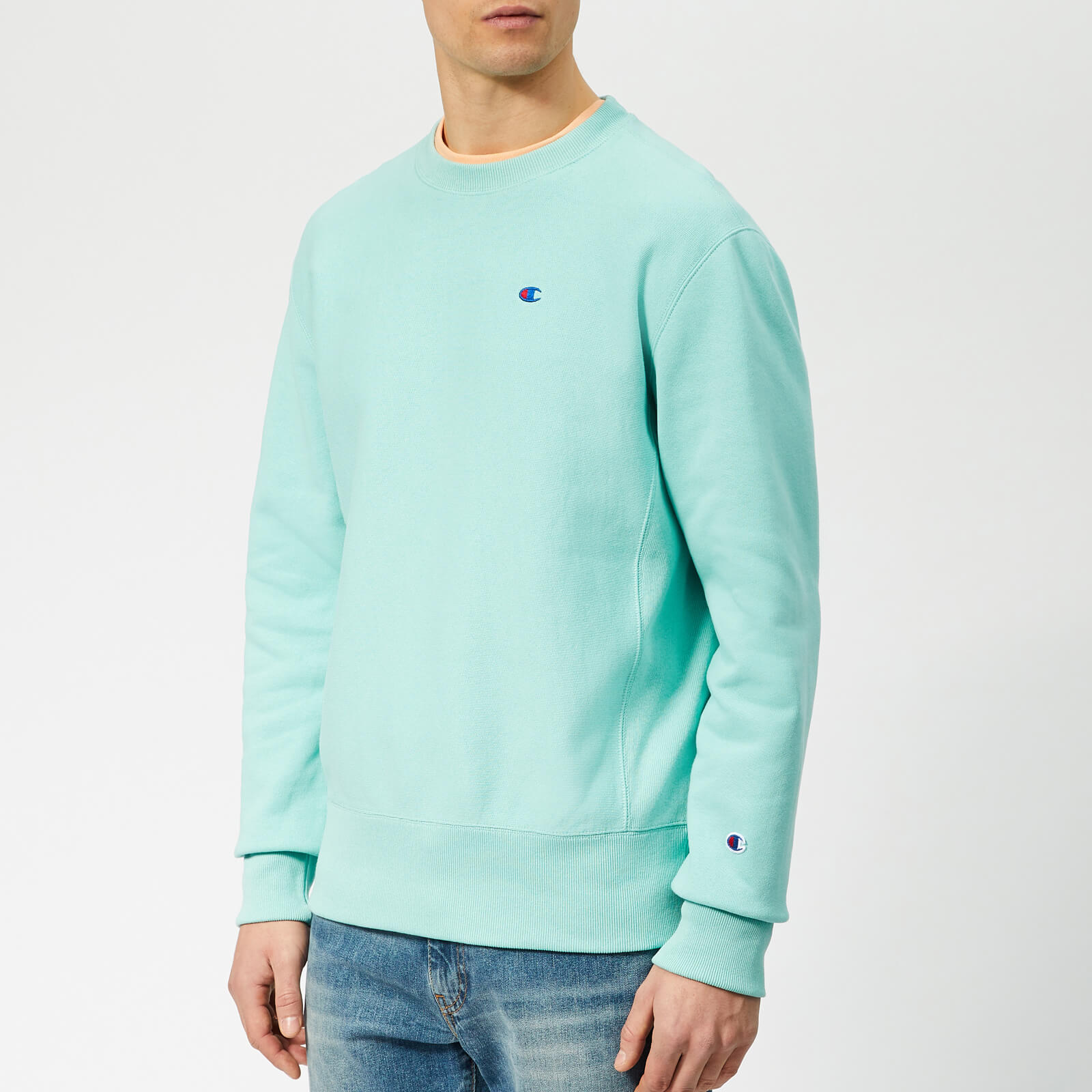 d03de5efd Champion Men's Crew Neck Sweatshirt - Teal - Free UK Delivery over £50