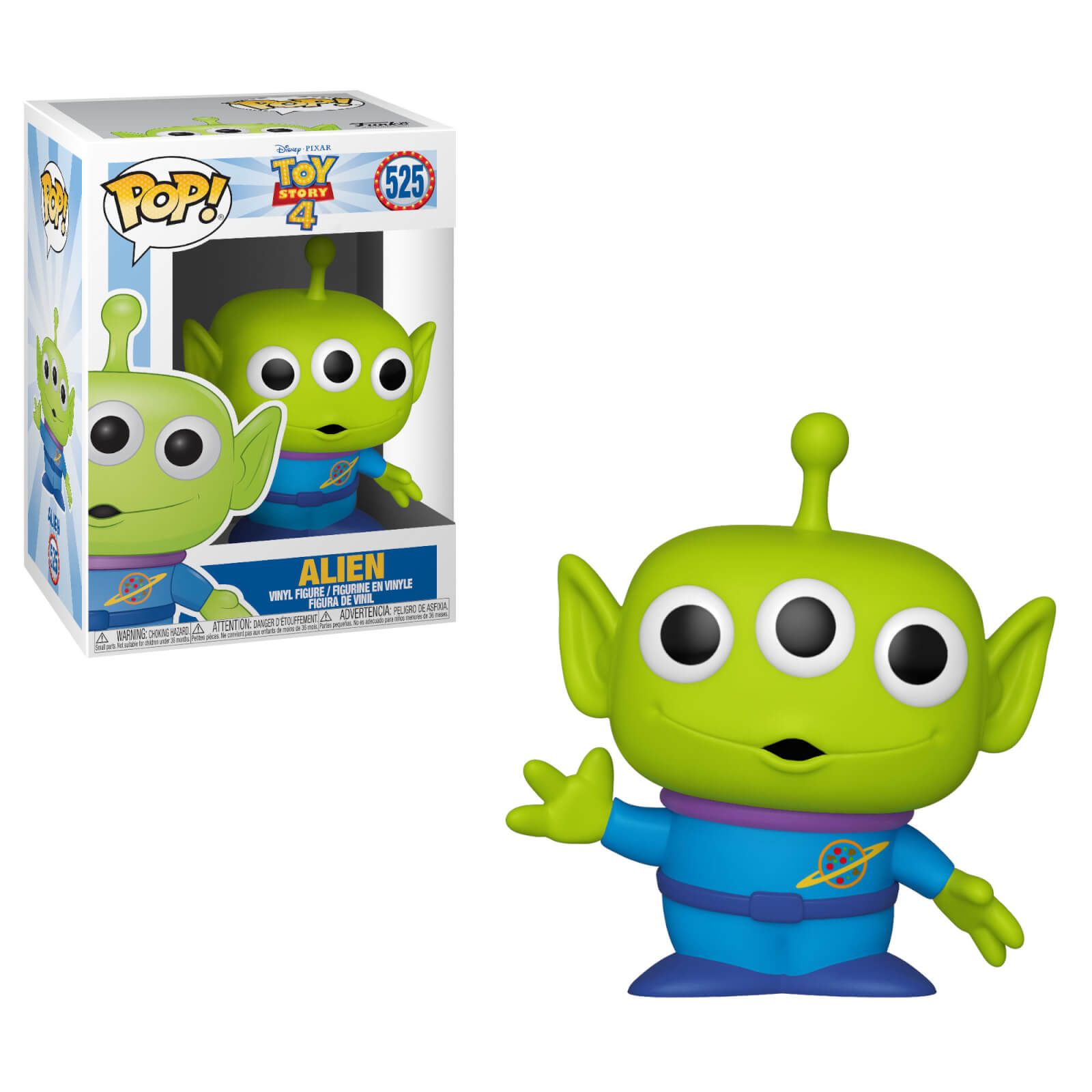 Toy STORY 4-Alieno FUNKO POP Figura in vinile #525 DISNEY
