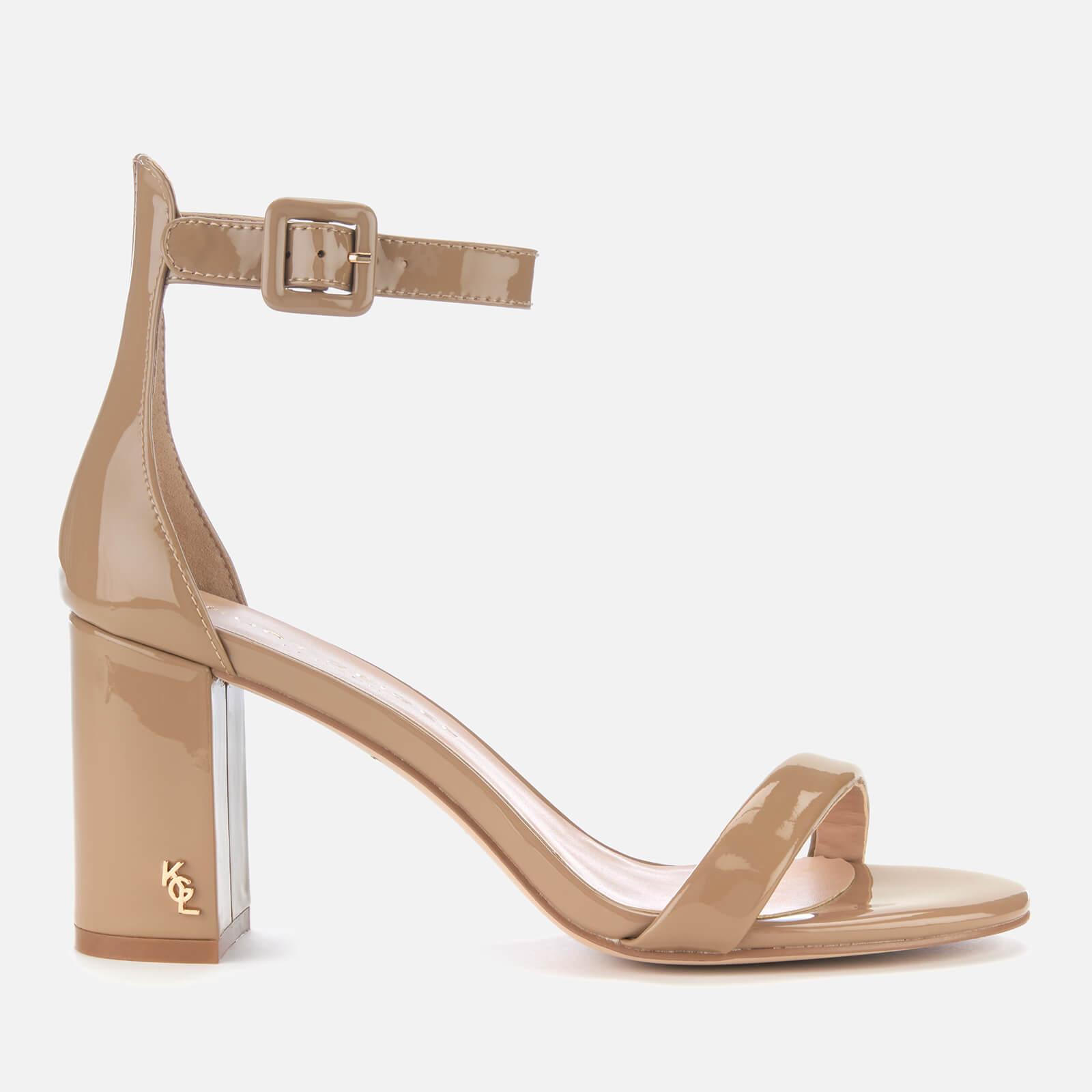 e5a5e2c725d Kurt Geiger London Women's Langley Patent Block Heeled Sandals - Camel