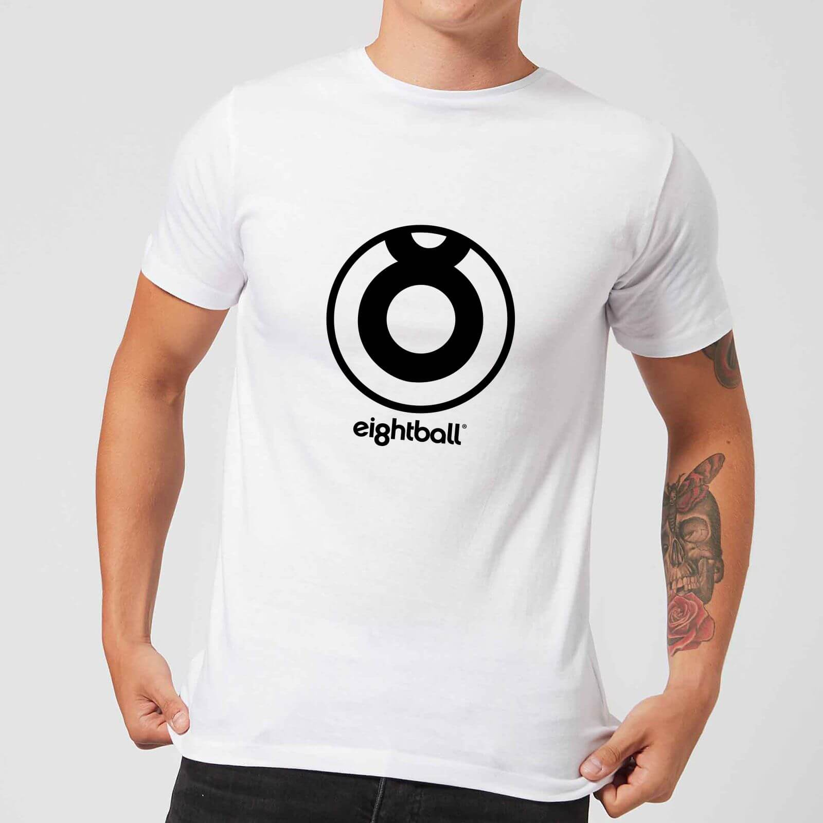861908a2f Ei8htball Large Circle Logo Men's T-Shirt - White Merchandise | Zavvi
