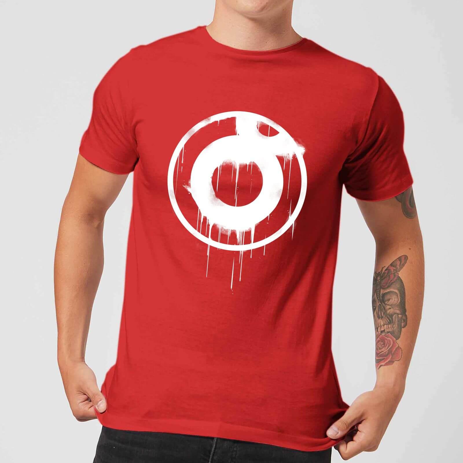 8199b5f1 Ei8htball Spray Paint Logo White Print Men's T-Shirt - Red Merchandise |  Zavvi