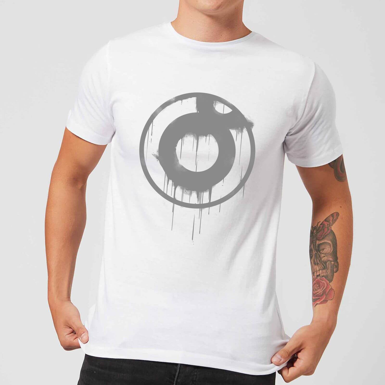 7145303e Ei8htball Spray Paint Logo Grey Men's T-Shirt - White Merchandise | Zavvi