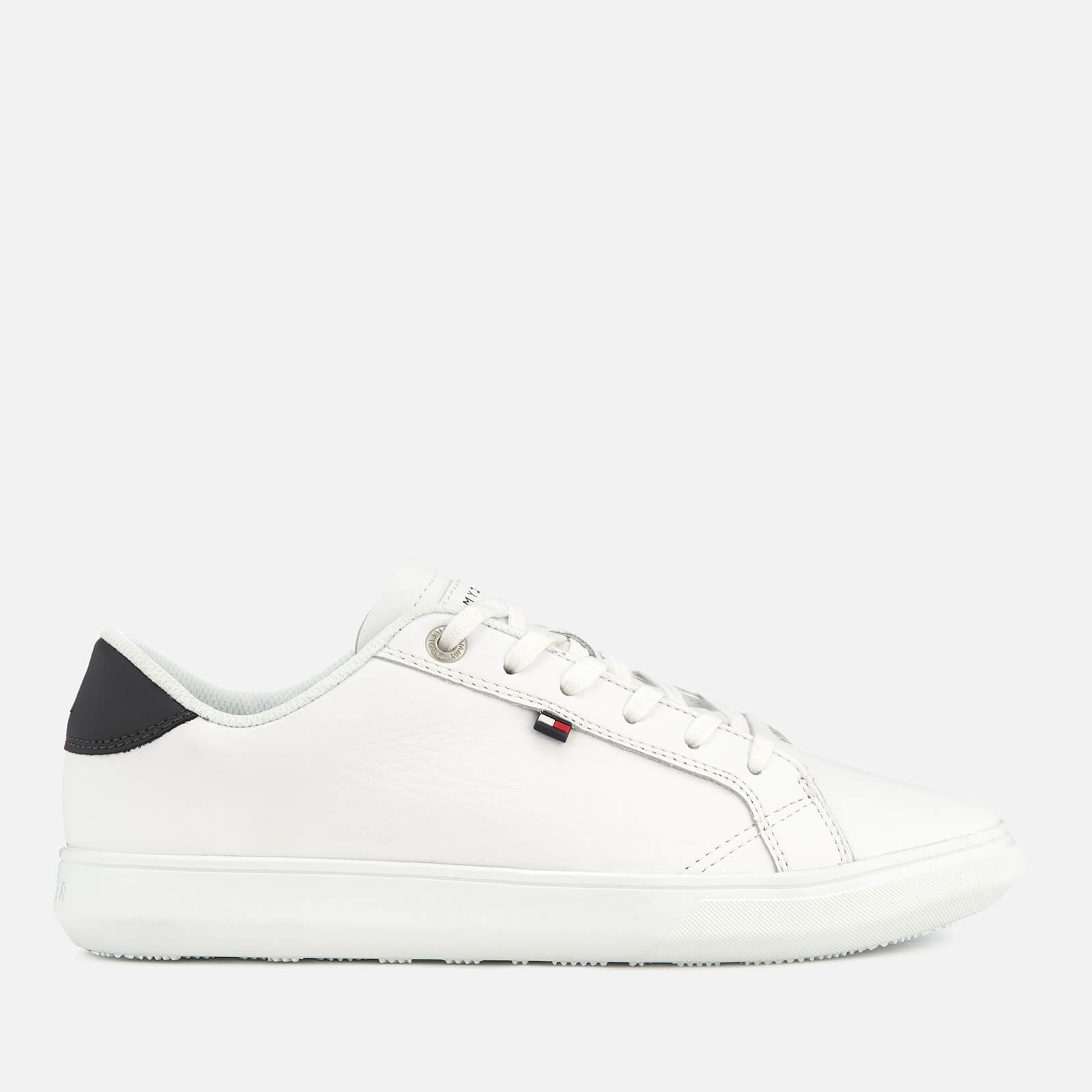 ac297b80922f Tommy Hilfiger Men s Essential Leather Cupsole Trainers - White Mens  Footwear