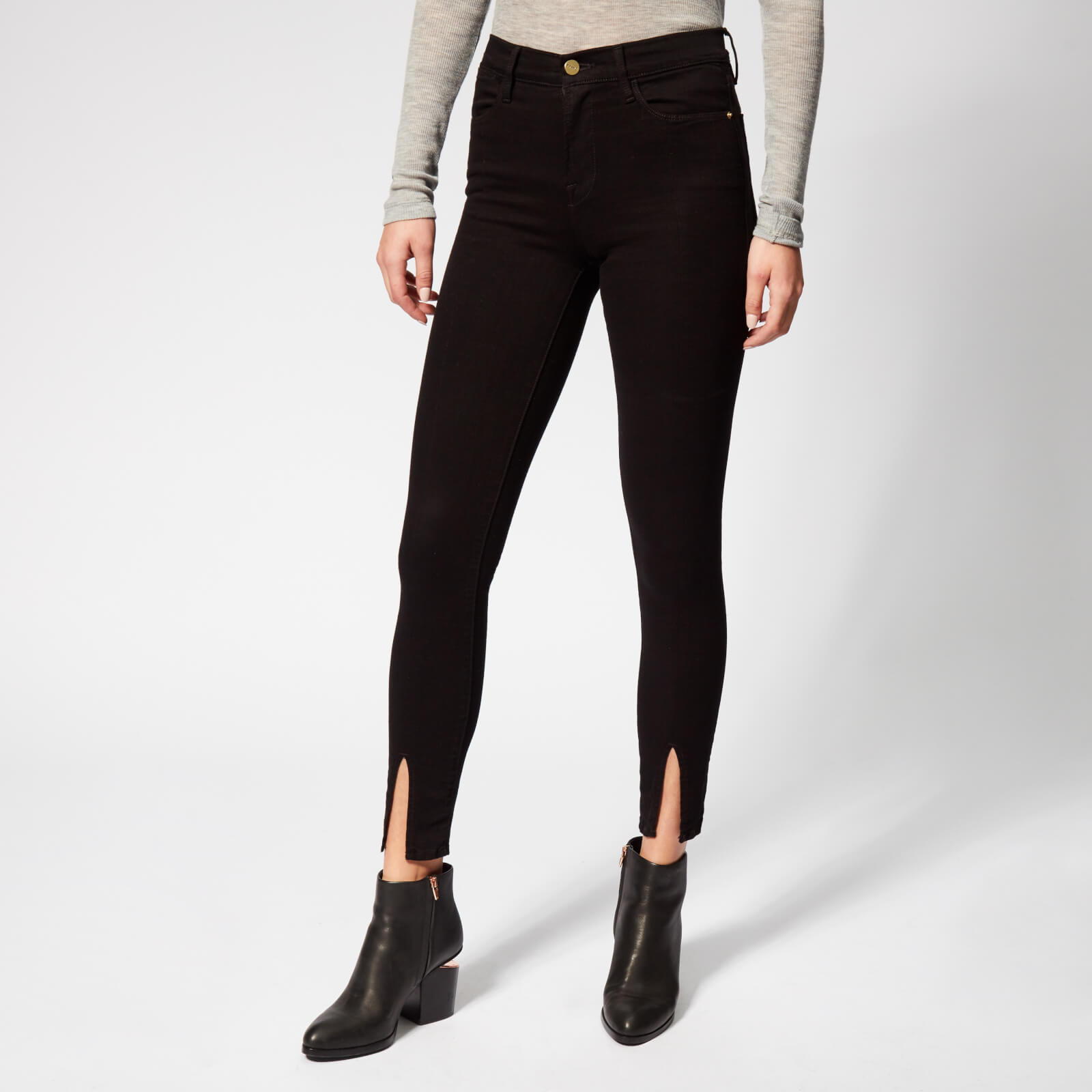 e3165a0588b25 Frame Women s Le High Skinny Front Split Jeans - Film Noir - Free UK  Delivery over £50