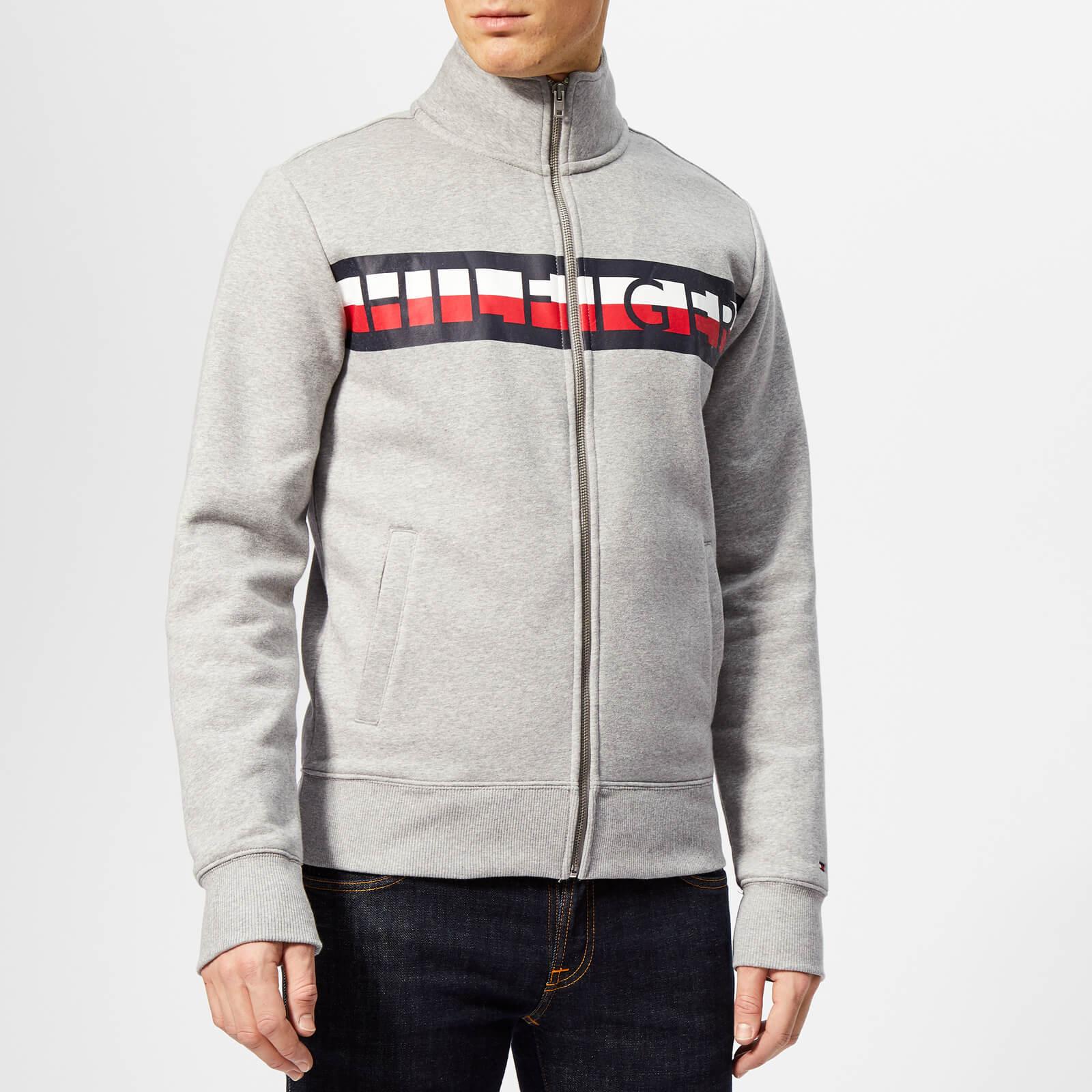 bfa653eb Tommy Hilfiger Men's Tommy Zip Through Sweatshirt - Grey Mens ...