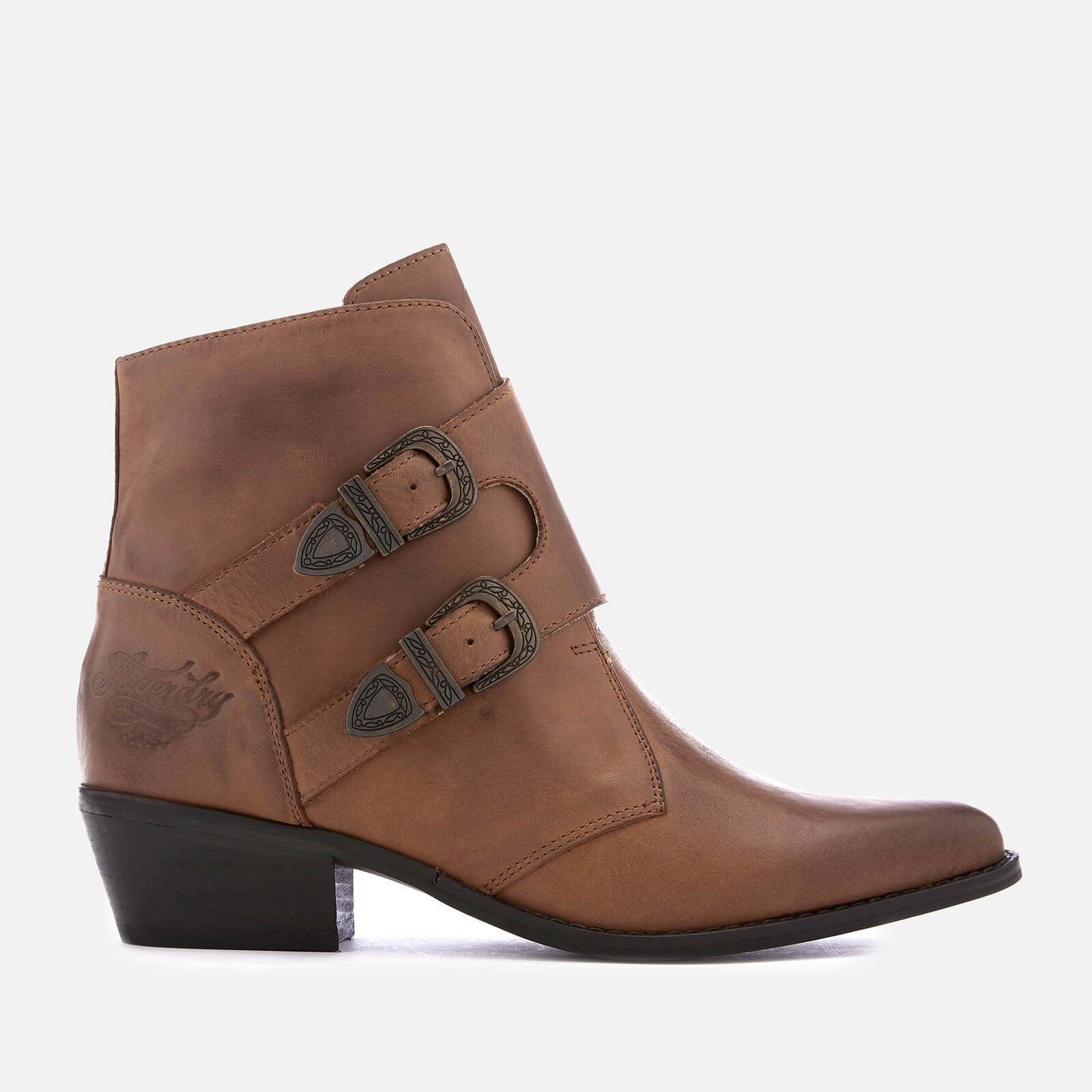 d0808b13c5f0c Superdry Women's Rodeo Monk Heeled Ankle Boots - Tan