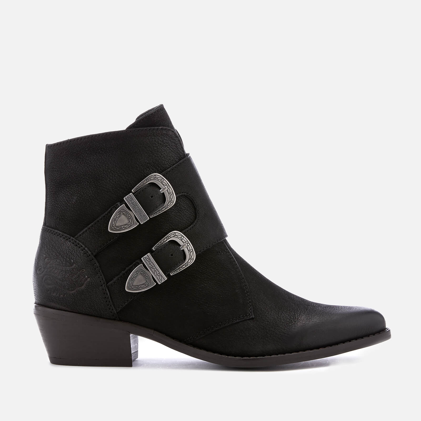 5bf13a112d062 Superdry Women's Rodeo Monk Heeled Ankle Boots - Black