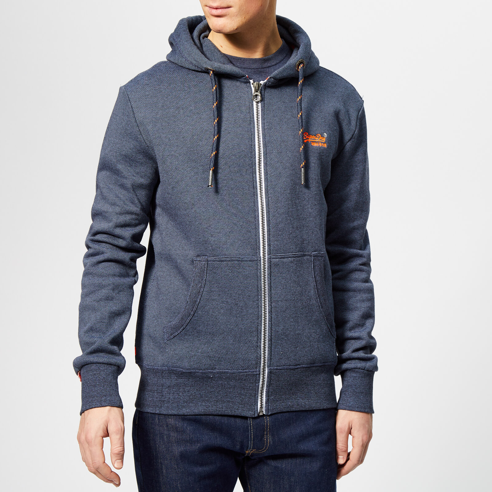 2eecf869ff16 Superdry Men's Orange Label Zip Hoody - Abyss Navy Feeder Stripe Mens  Clothing | TheHut.com