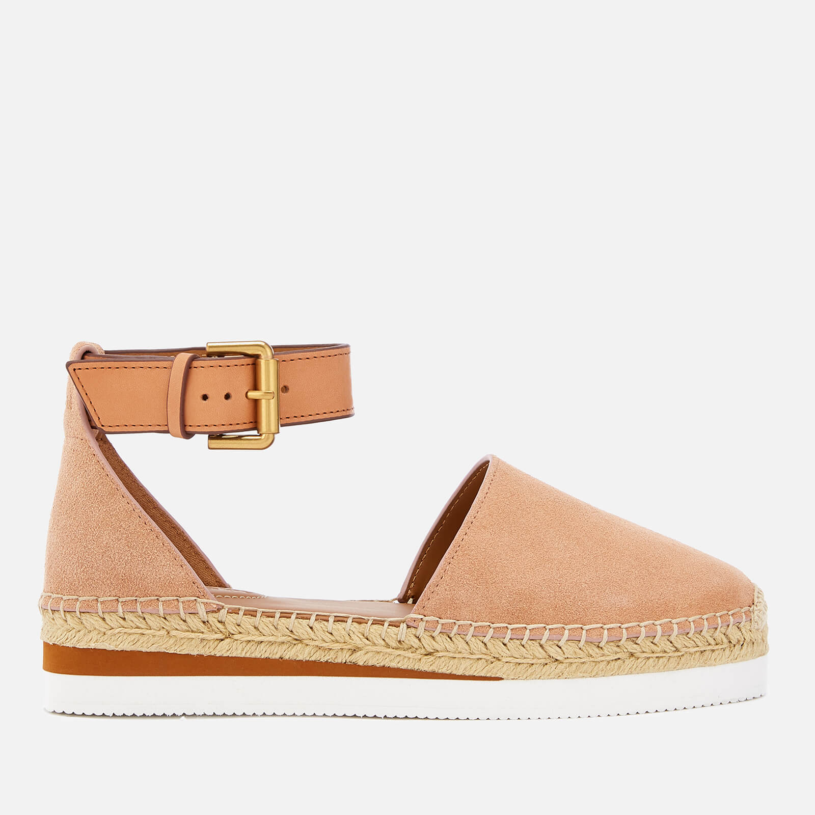 6017058889a See By Chloé Women s Glyn Suede Espadrille Flat Sandals - Cipria ...
