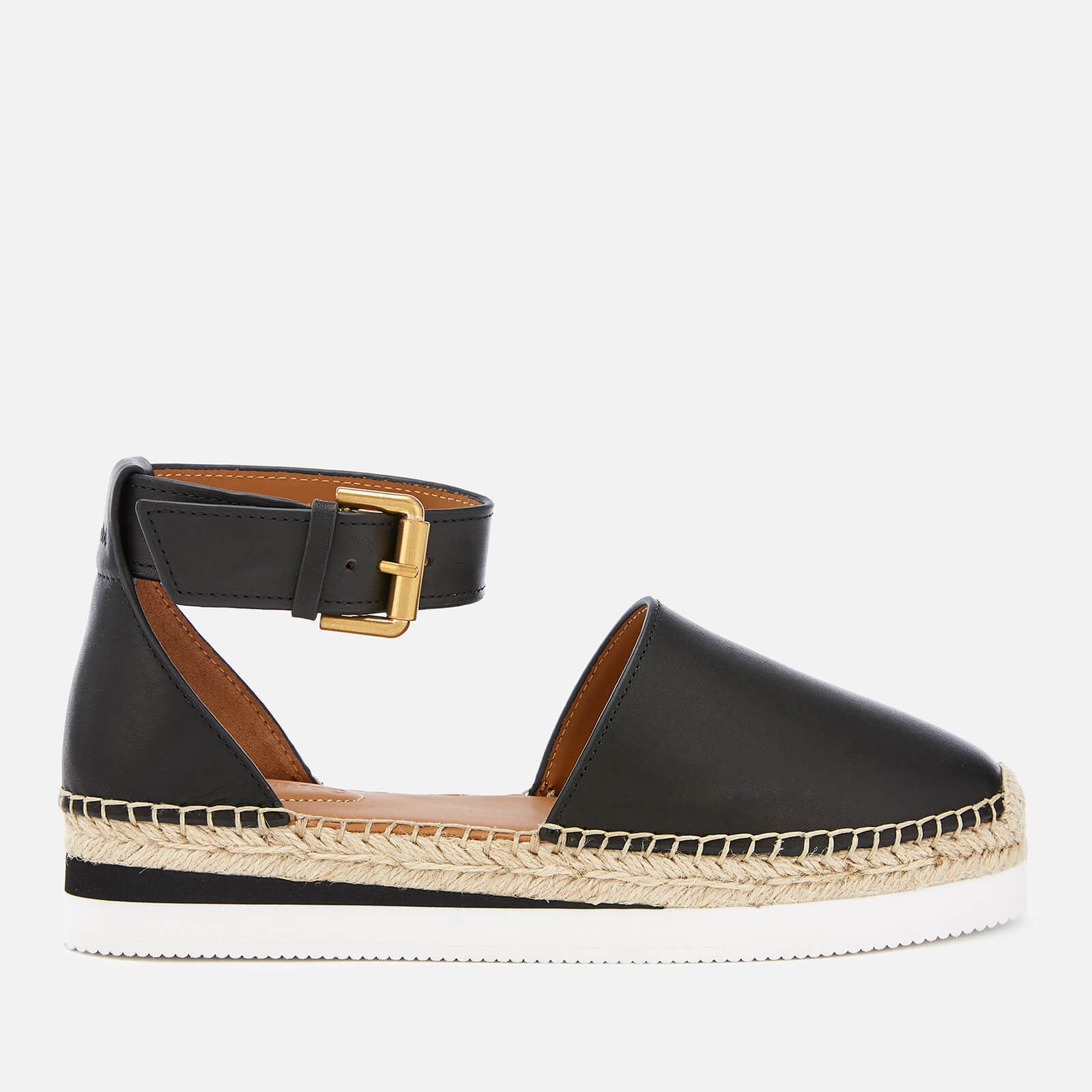 8d3e87a8b3f See By Chloé Women s Glyn Leather Espadrille Flat Sandals - Black ...
