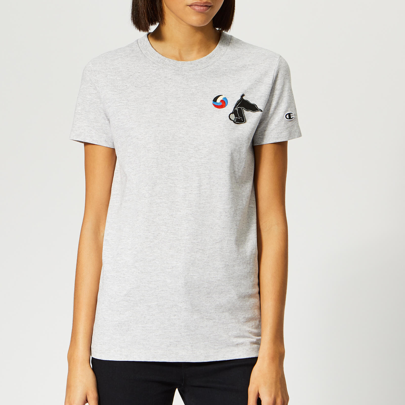89adb276 Champion X WOOD WOOD Women's Lyn Crew Neck T-Shirt - Grey - Free UK  Delivery over £50