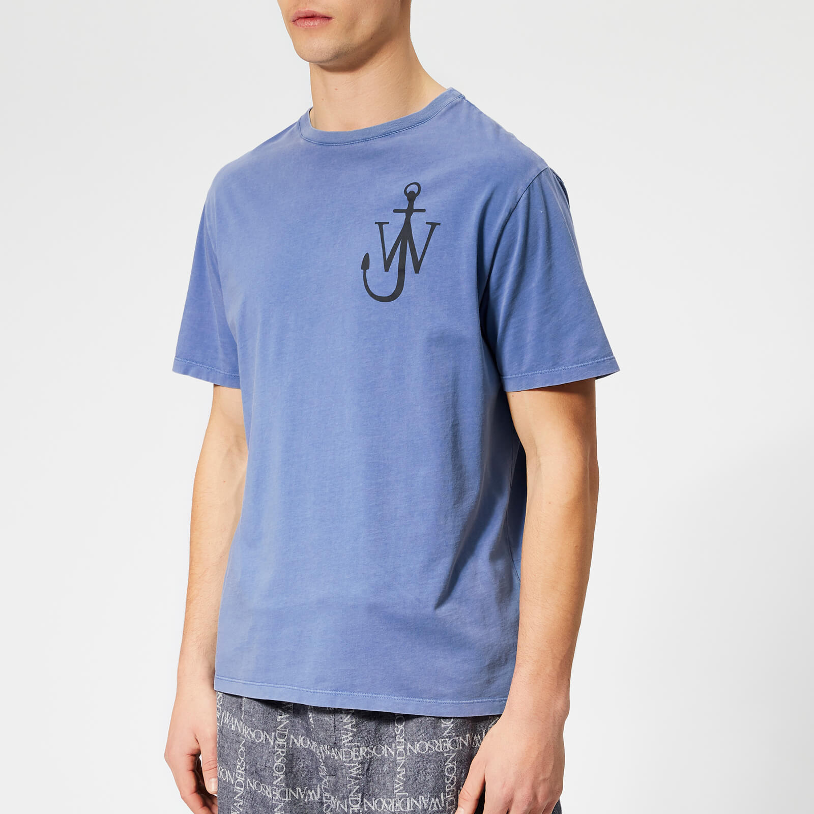 9aa13fd80 JW Anderson Men's JWA Anchor Print T-Shirt - Indigo - Free UK Delivery over  £50