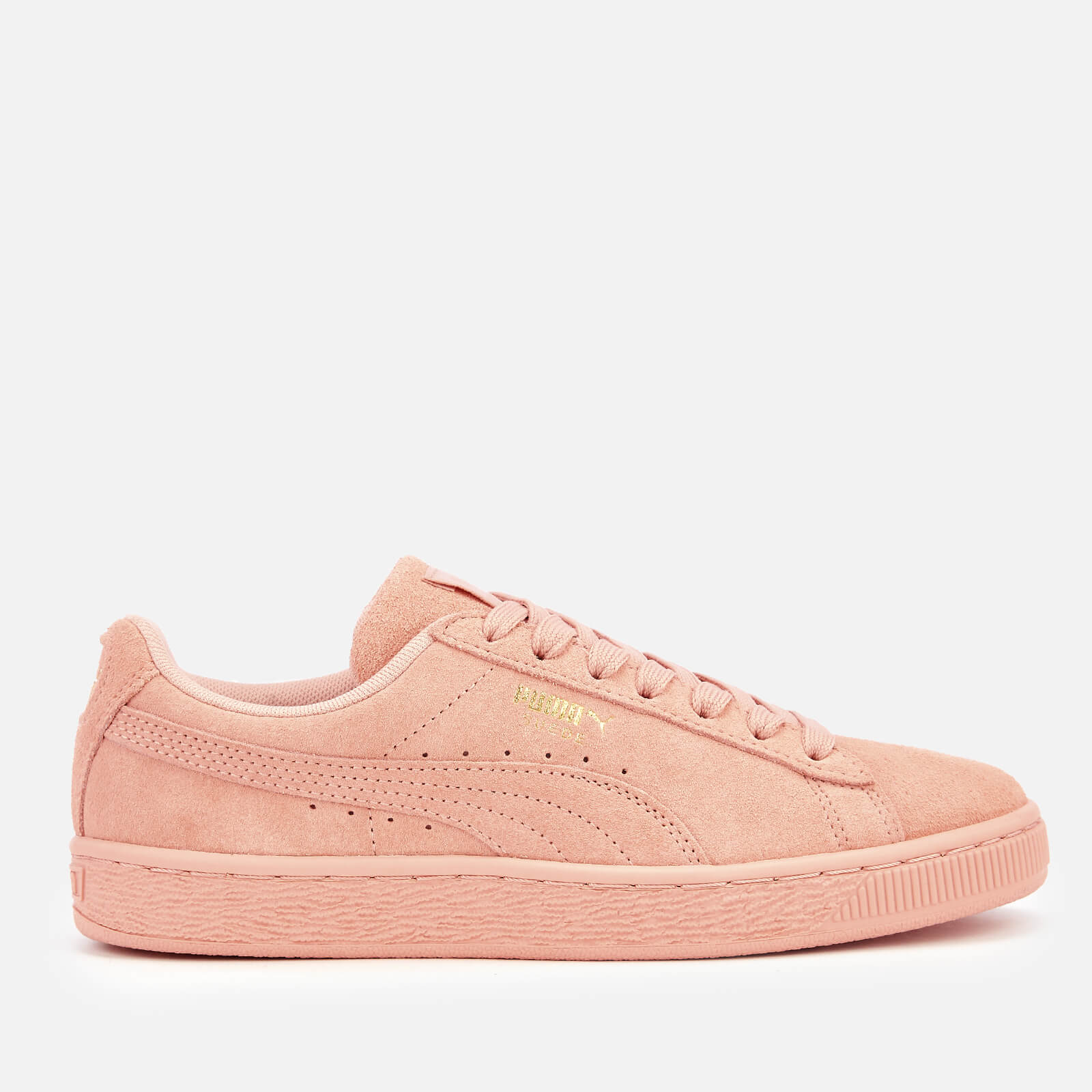 Puma Women's Suede Classic Trainers - Peach Bud/Puma Team Gold - UK 6 - Pink