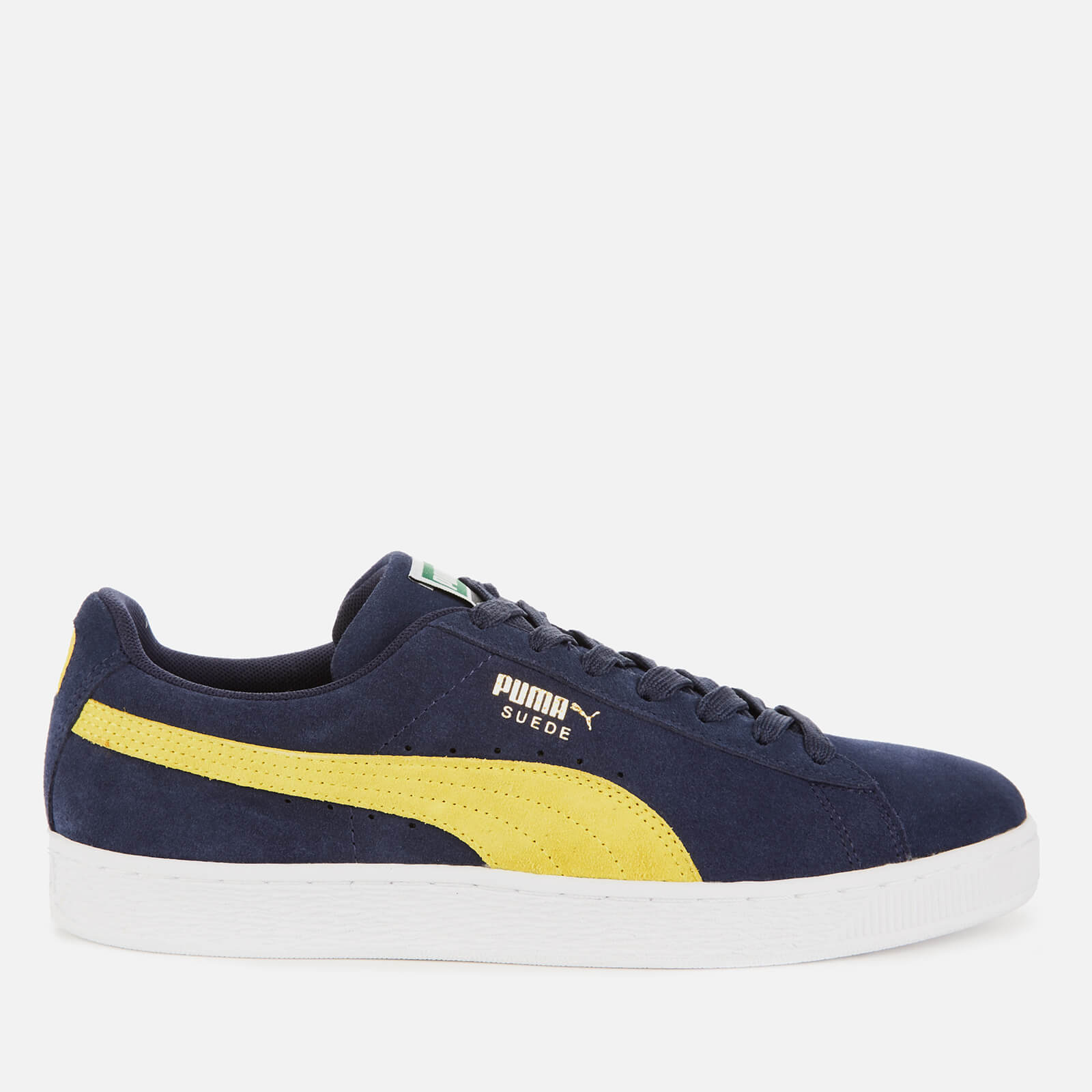 dfb08069f Puma Men's Suede Classic Trainers - Peacoat/Blazing Yellow | FREE UK  Delivery | Allsole