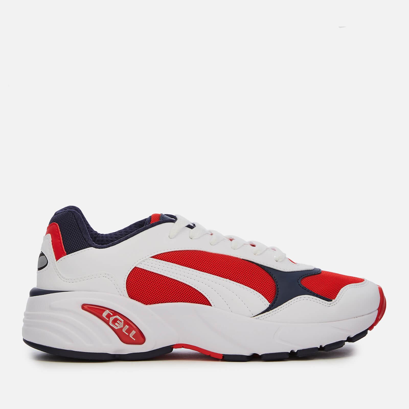 a528c53983 Puma Men s Cell Viper Trainers - Puma White High Risk Red Mens Footwear