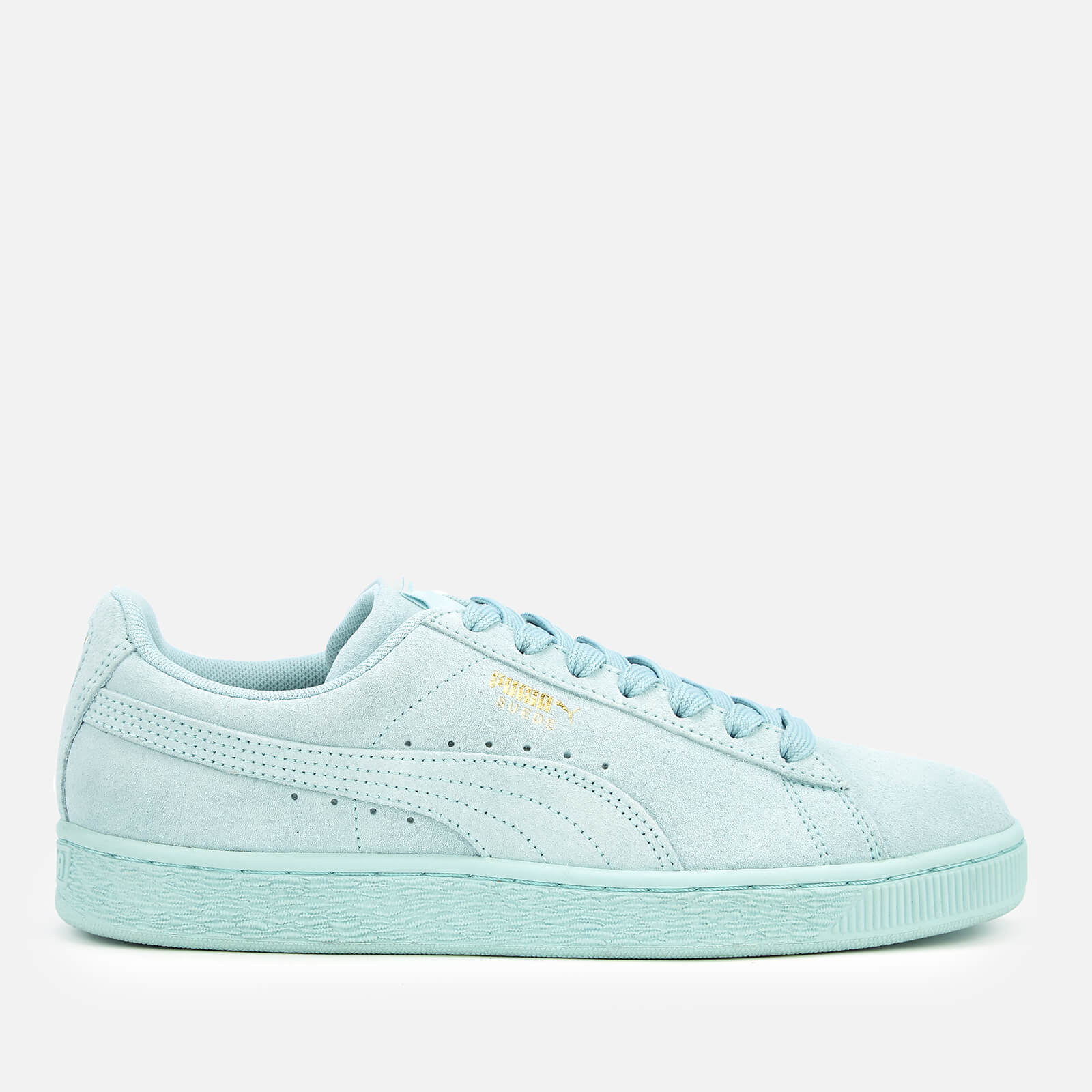 wholesale dealer 90ec7 59c0b Puma Suede Classic Trainers - Light Sky/Puma Team Gold