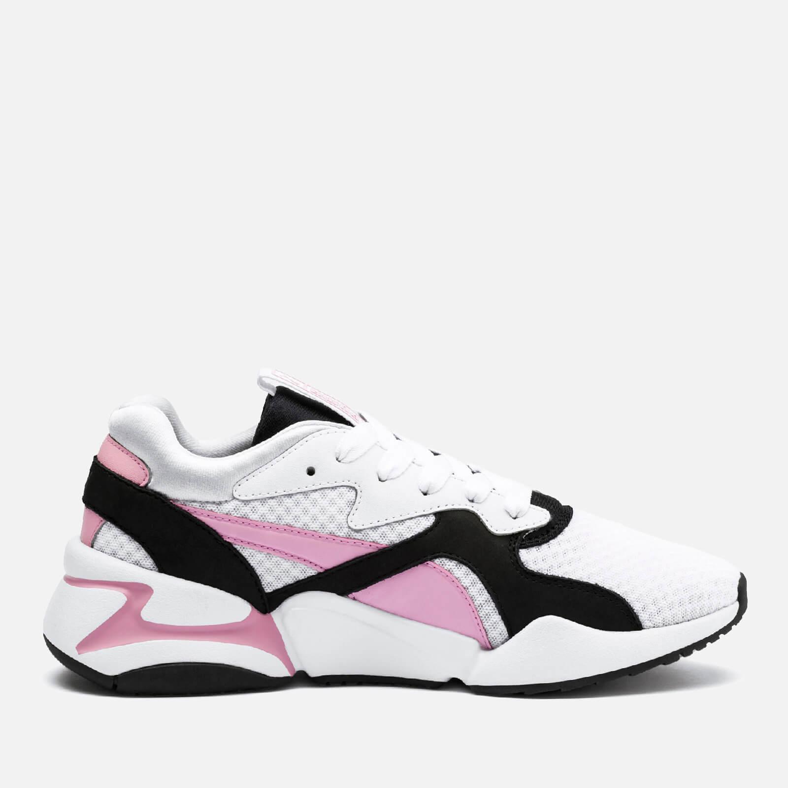 bde878144 Puma Women's Nova 90's Block Trainers - Puma White/Pale Pink Womens  Footwear | TheHut.com