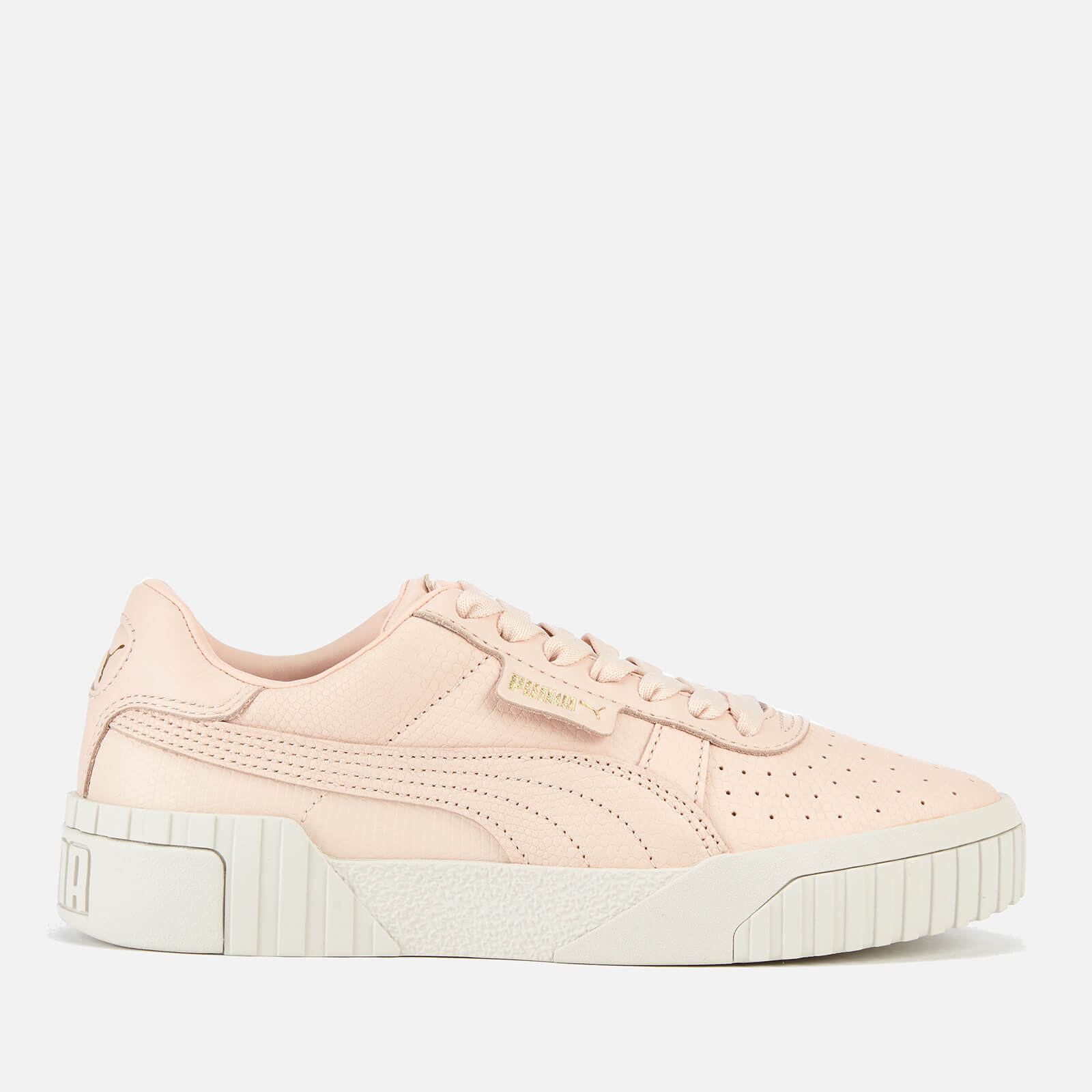 Puma Women's Cali Emboss Trainers - Cream Tan/Cream Tan - UK 7 - Pink