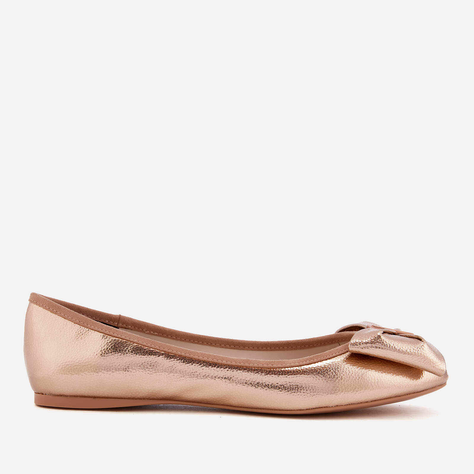 e75cf4a95 Ted Baker Women s Imme 4 Bow Ballet Flats - Rose Gold Womens ...