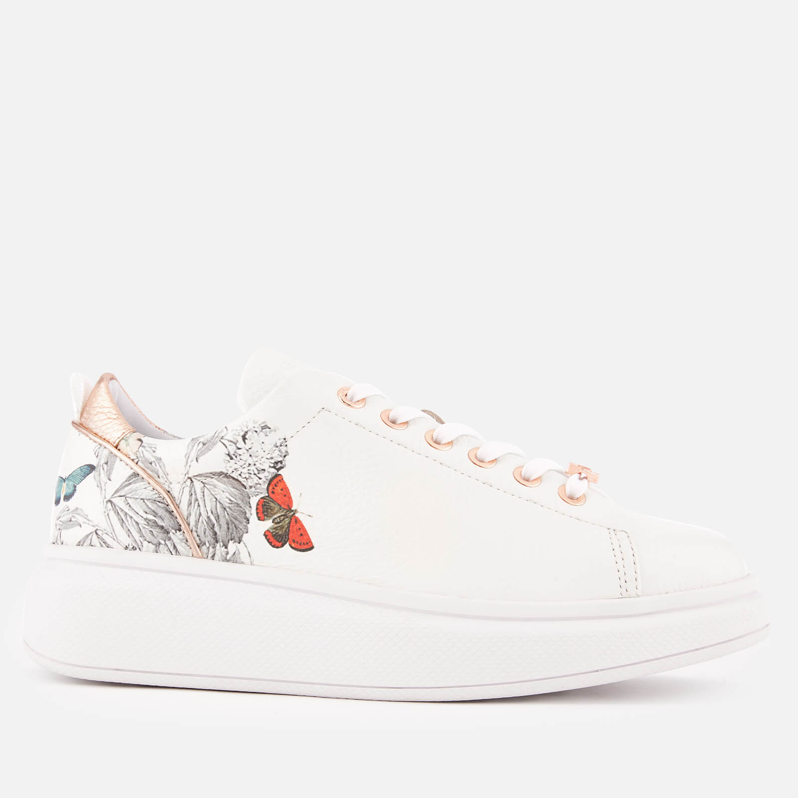 2ef0ec5e8 Ted Baker Women's Ailbe 3 Leather Flatform Trainers - White Narnia Womens  Footwear | TheHut.com