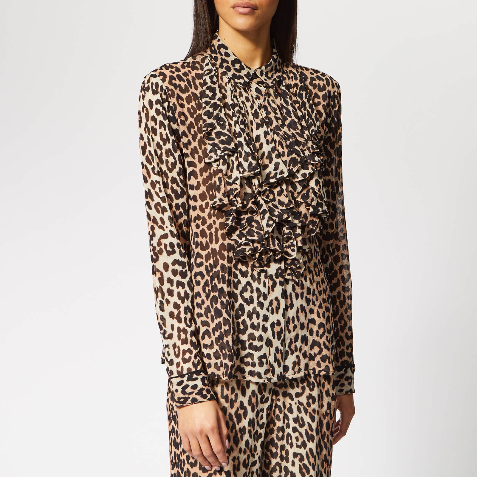 330d9aee Ganni Women's Mullin Georgette Blouse - Leopard - Free UK Delivery over £50
