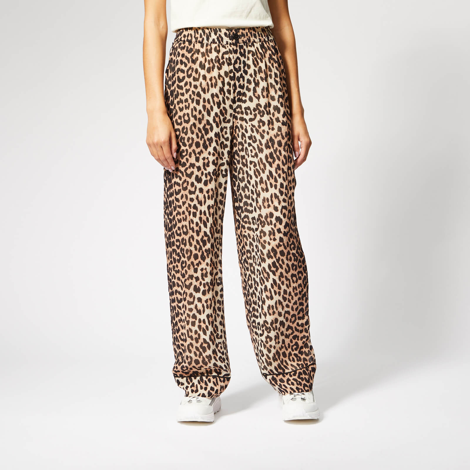 15a214c3 Ganni Women's Mullin Georgette Trousers - Leopard - Free UK Delivery over  £50