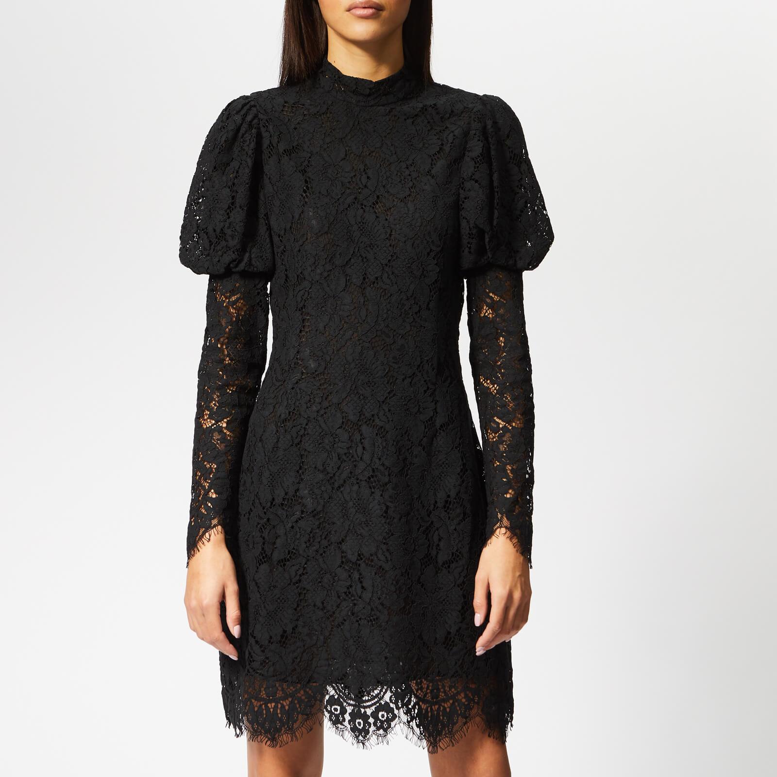 c40e1ef9b23 Ganni Women's Everdale Lace Dress - Black - Free UK Delivery over £50