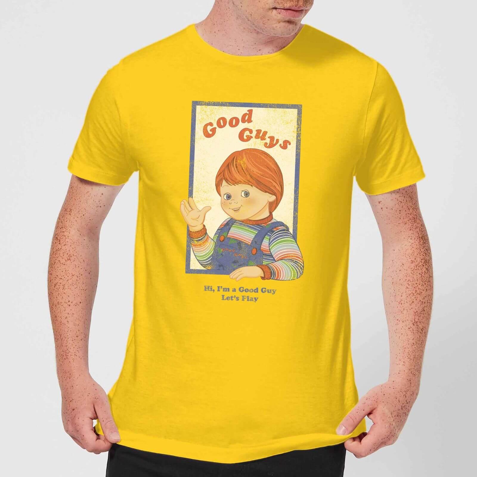 9edf4ecda Chucky Good Guys Retro Men's T-Shirt - Yellow Clothing | Zavvi