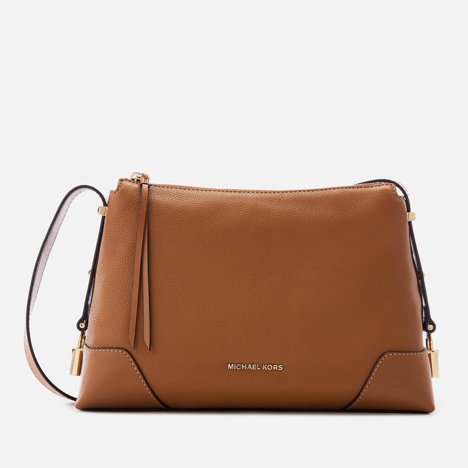 a55a3463341f MICHAEL MICHAEL KORS Women's Crosby Cross Body Shoulder Bag - Acorn - Free  UK Delivery over £50