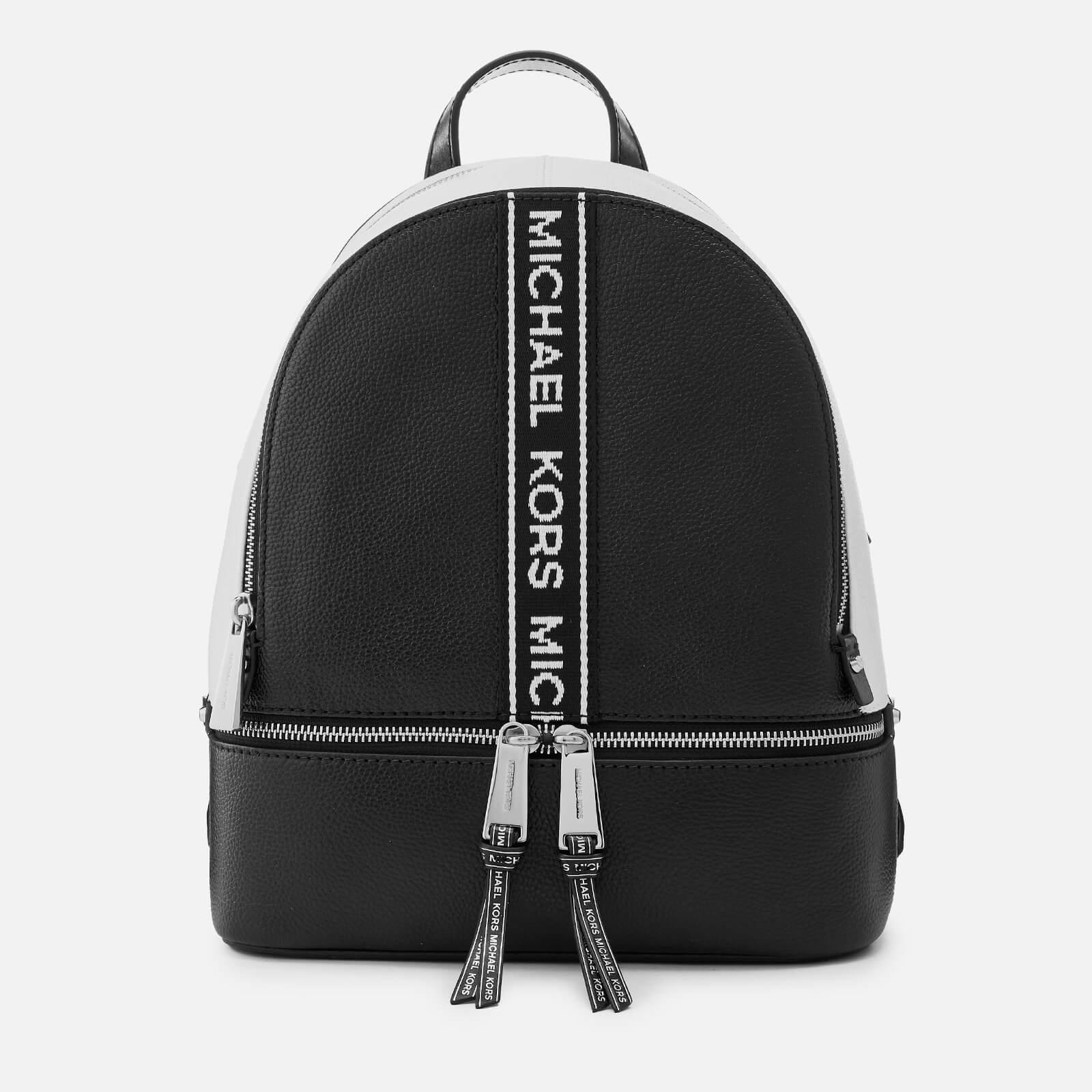 f4963ee64f0d MICHAEL MICHAEL KORS Women s Rhea Zip Backpack - Black White Womens  Accessories