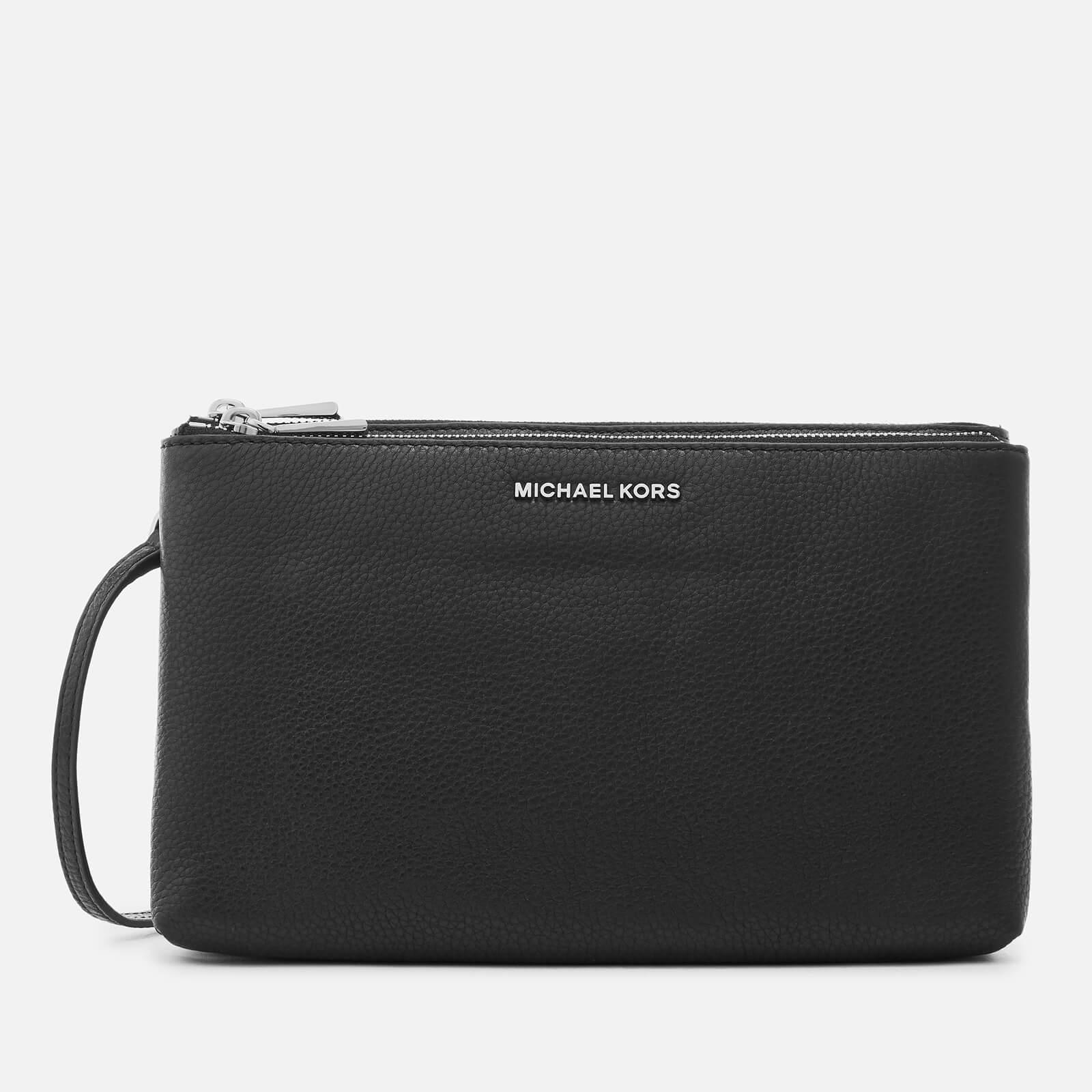 536bba163f0edc MICHAEL MICHAEL KORS Women's Adele Double Zip Cross Body Bag - Black - Free  UK Delivery over £50