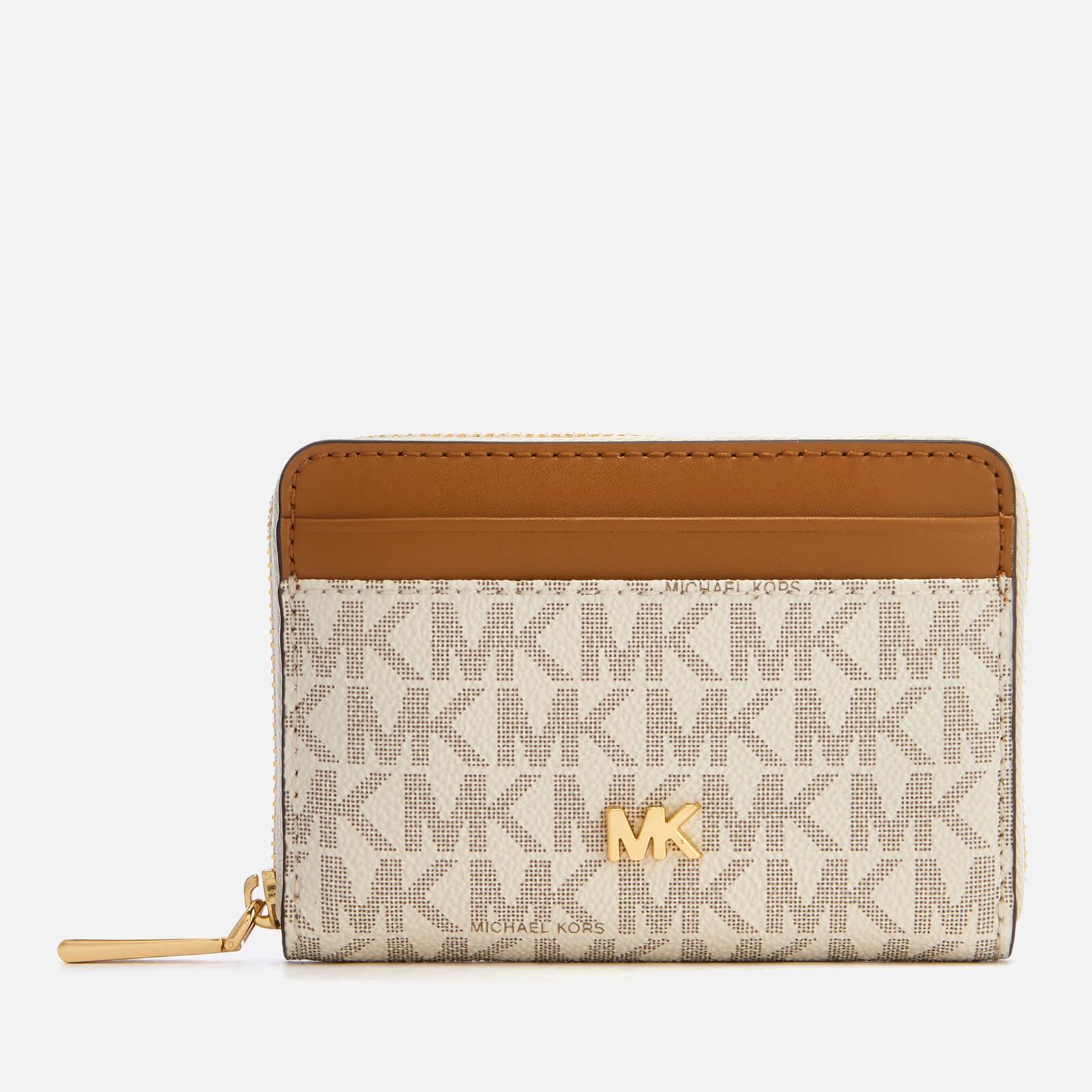 04bdfff430ef MICHAEL MICHAEL KORS Women's Money Pieces Coin Card Case - Vanilla/Acorn  Womens Accessories | TheHut.com