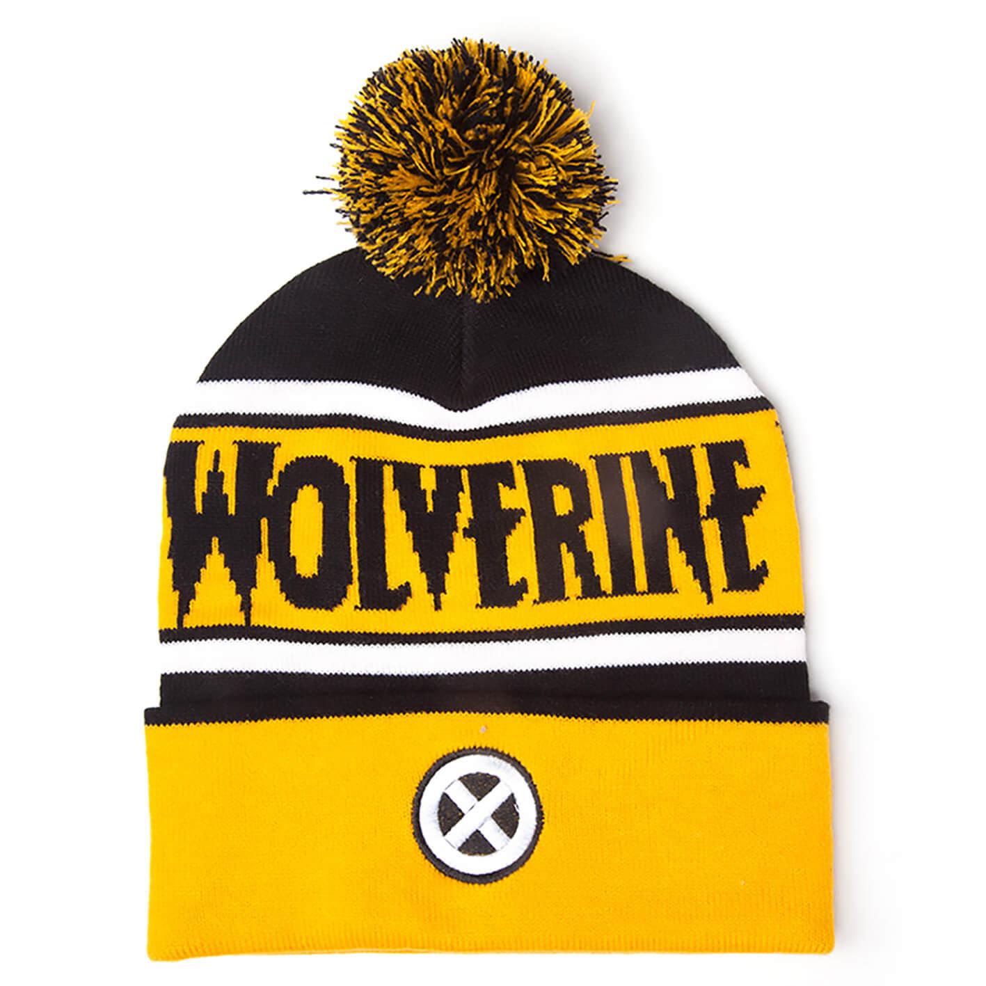 Marvel X-Men Men s Wolverine Beanie Hat with Pompom - Yellow Merchandise  bc3055373bd