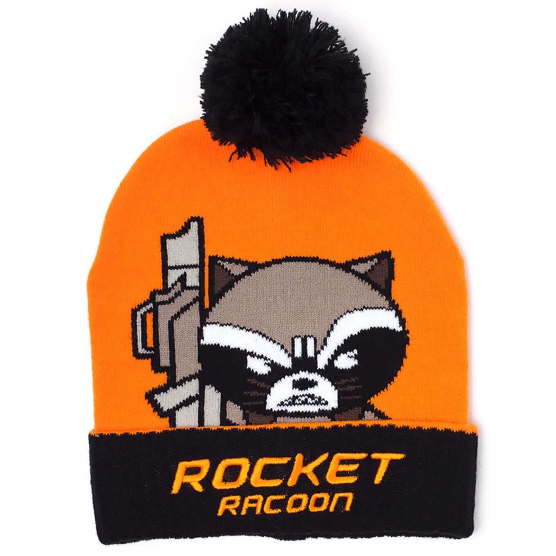 a4f8e9f5ef28d9 Marvel Guardians of the Galaxy Men's Kawaii Rocket Racoon Art Beanie Hat -  Orange Merchandise   Zavvi