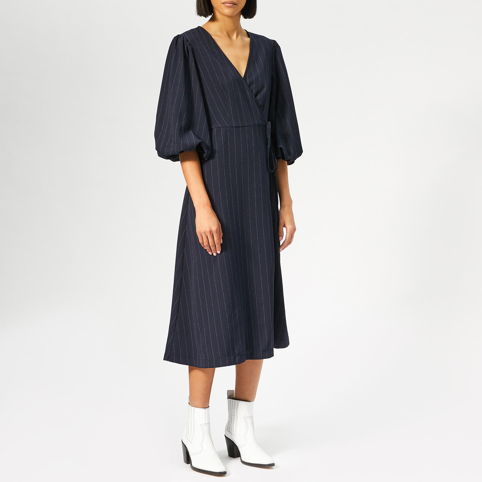e6f5449ccb66f Ganni Women's Clark Dress - Total Eclipse - Free UK Delivery over £50