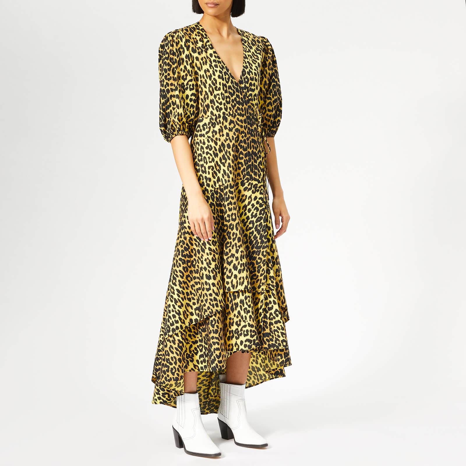 5a452ec4 Ganni Women's Bijou Wrap Dress - Leopard - Free UK Delivery over £50
