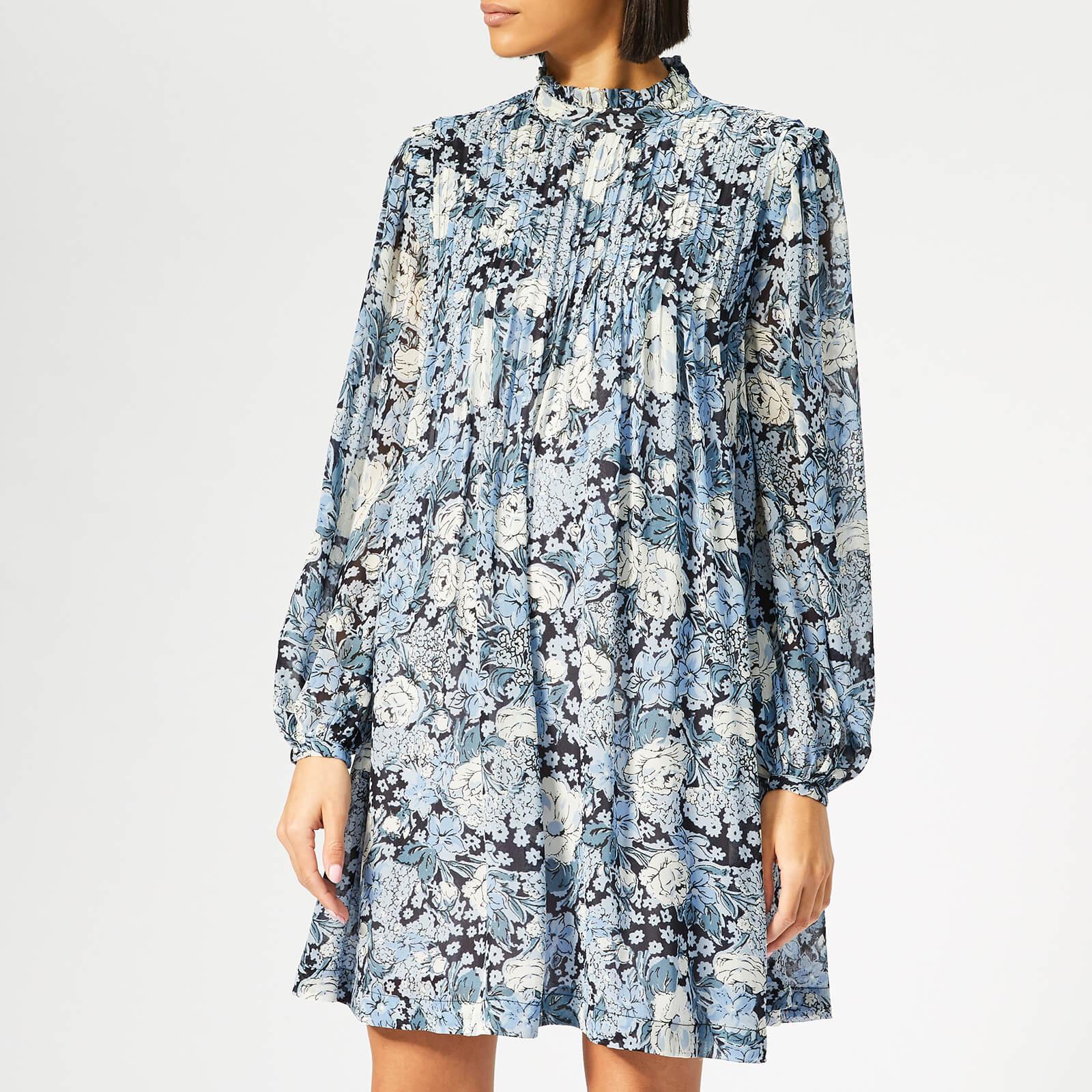 7dde2487af Ganni Women's Elm Georgette Mini Dress - Heather - Free UK Delivery over £50