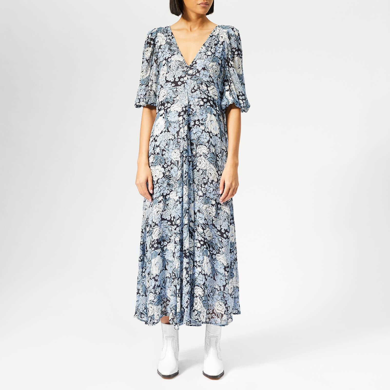21cd59127ac Ganni Women's Elm Georgette Dress - Heather - Free UK Delivery over £50