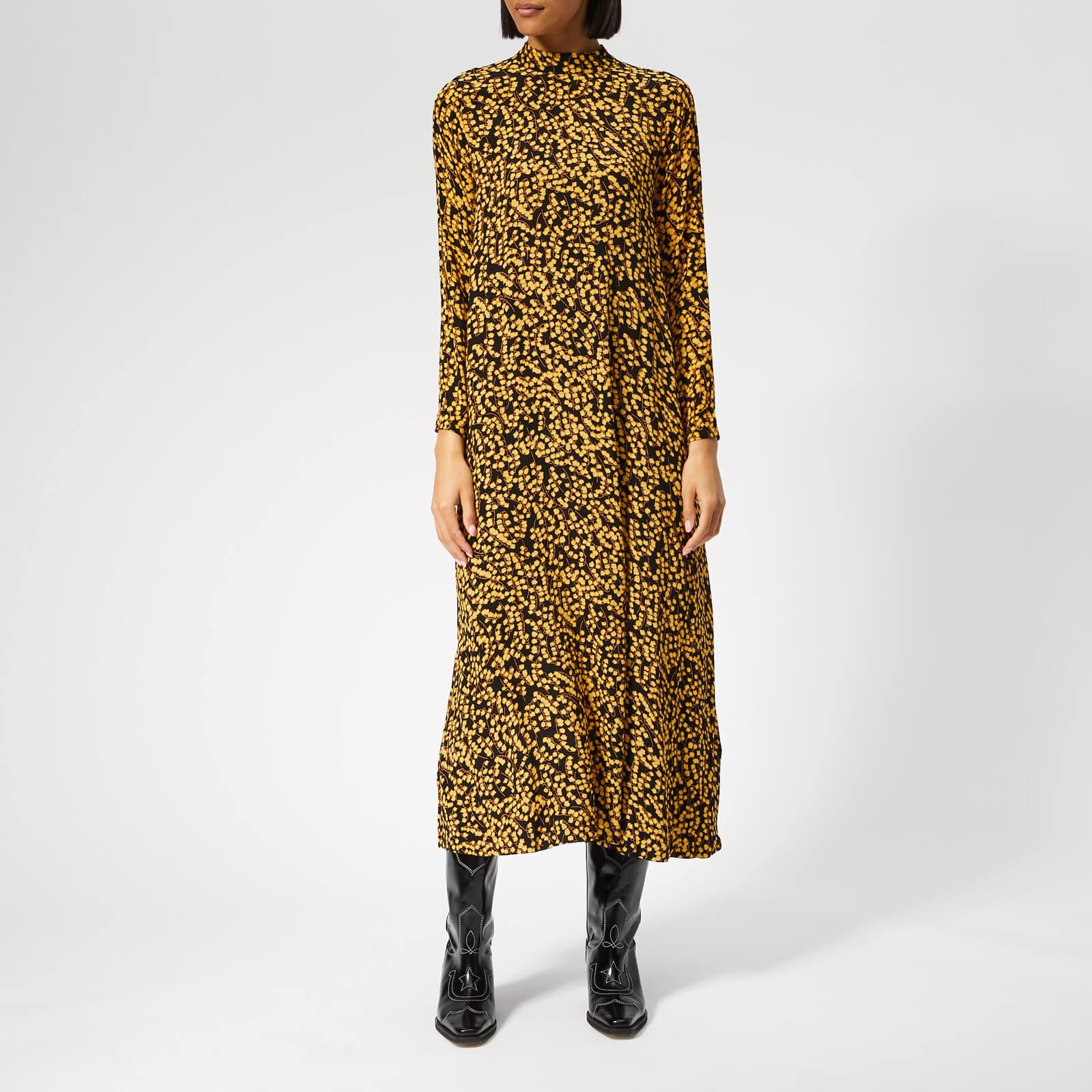 94bc32de5a96 Ganni Women s Goldstone Crepe Dress - Black - Free UK Delivery over £50