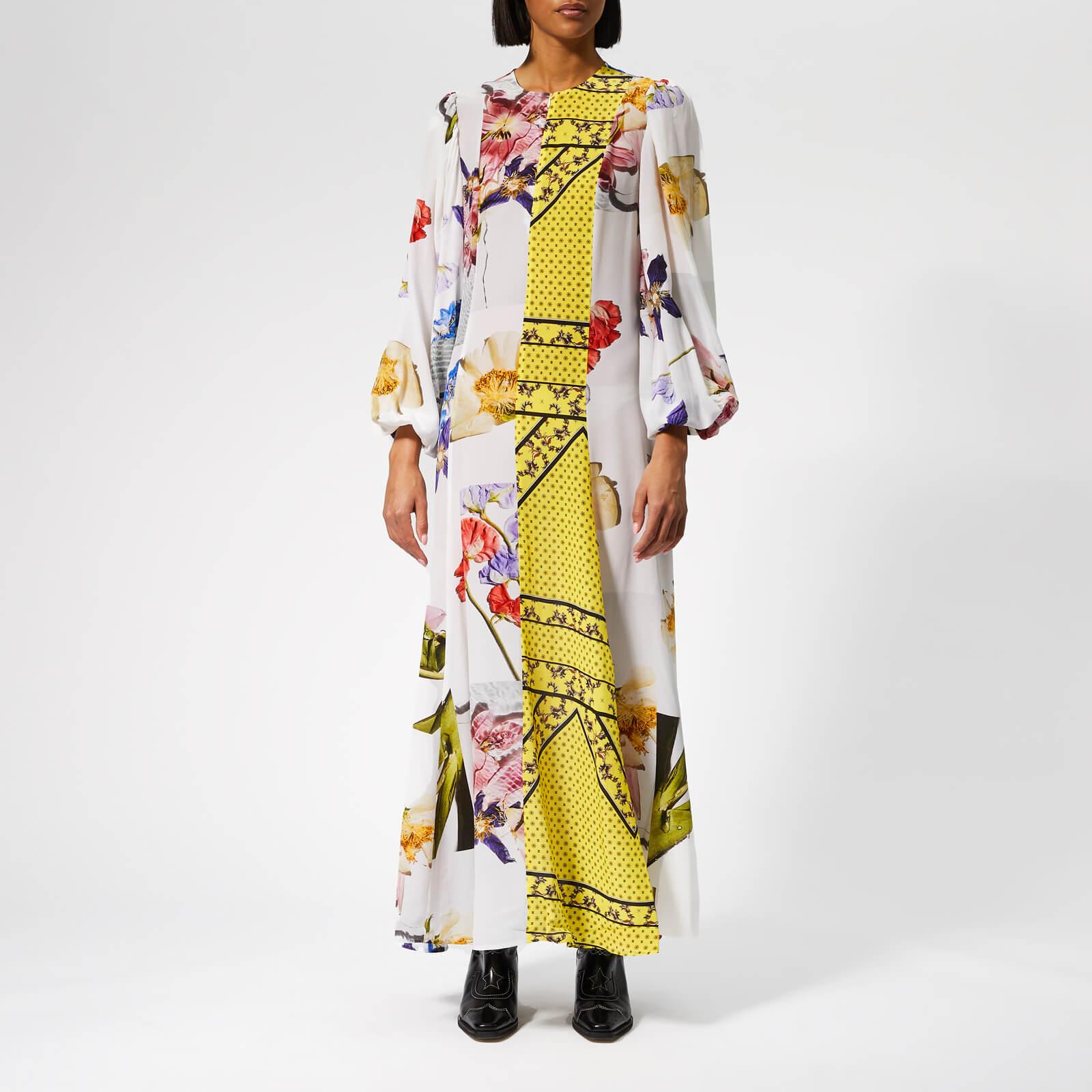 f9cd6f1f0 Ganni Women's Hemlock Silk Dress - Block Colour - Free UK Delivery over £50