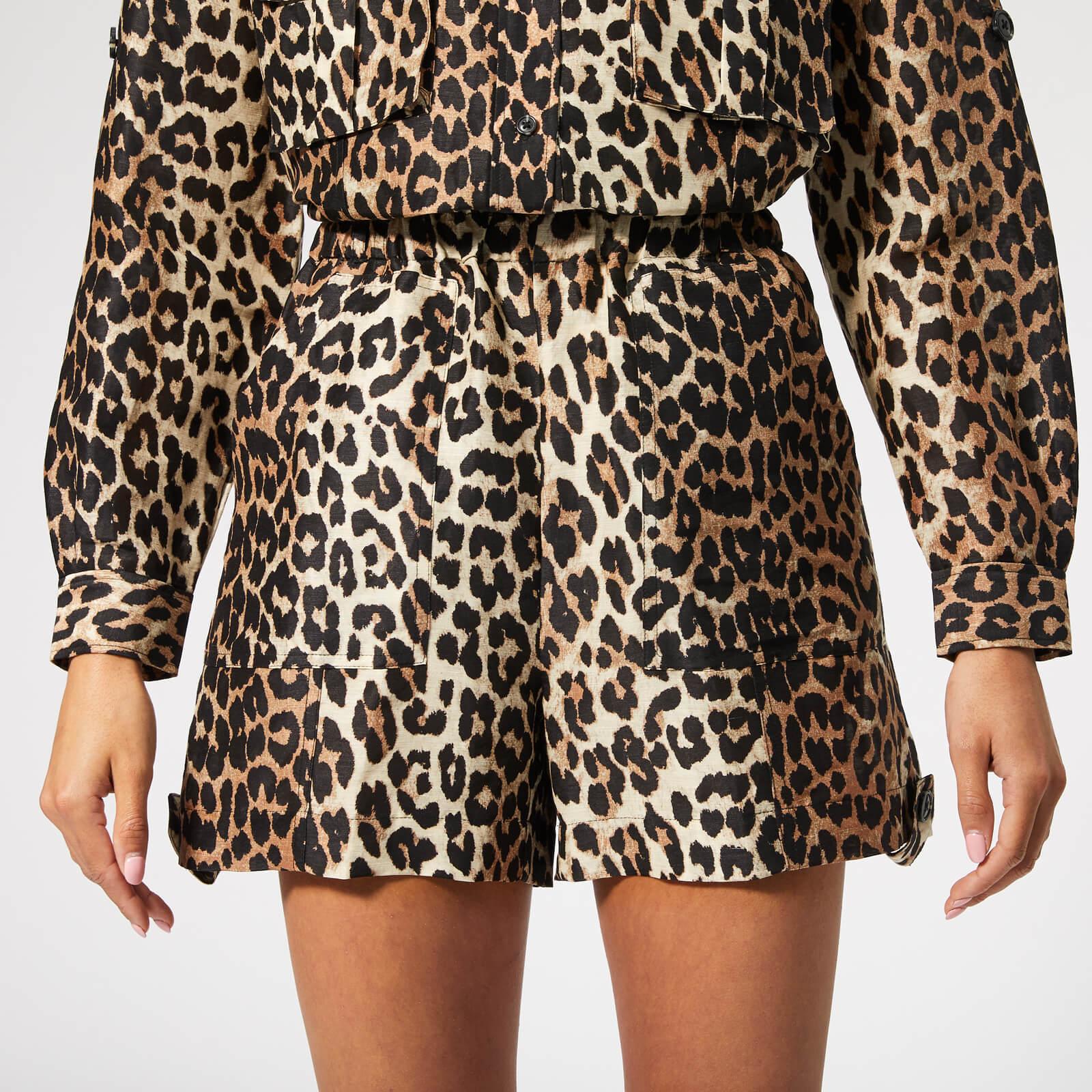 f098254df634 Ganni Women's Cedar Shorts - Leopard - Free UK Delivery over £50