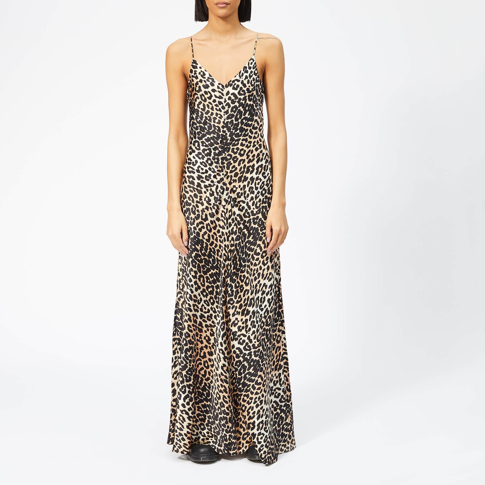 0fb6a80fec9b Ganni Women's Blakely Silk Slip Dress - Leopard - Free UK Delivery over £50