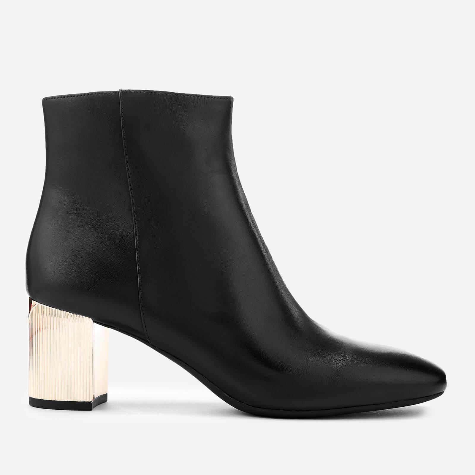 35bae1d22394 MICHAEL MICHAEL KORS Women's Paloma Leather Heeled Ankle Boots - Black  Womens Footwear   TheHut.com