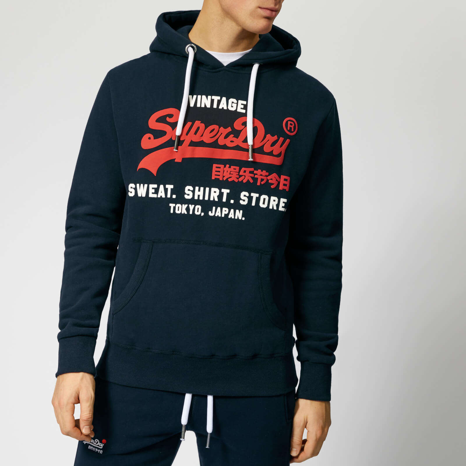 super cute 0089e aa36a Superdry Men's Sweatshirt Shop Duo Hoody - Eclipse Navy