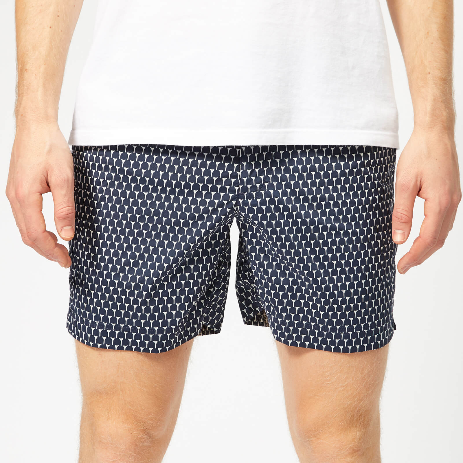 2409993b5d Orlebar Brown Men's Bulldog Sport Cerchio Swim Shorts - Navy - Free UK  Delivery over £50