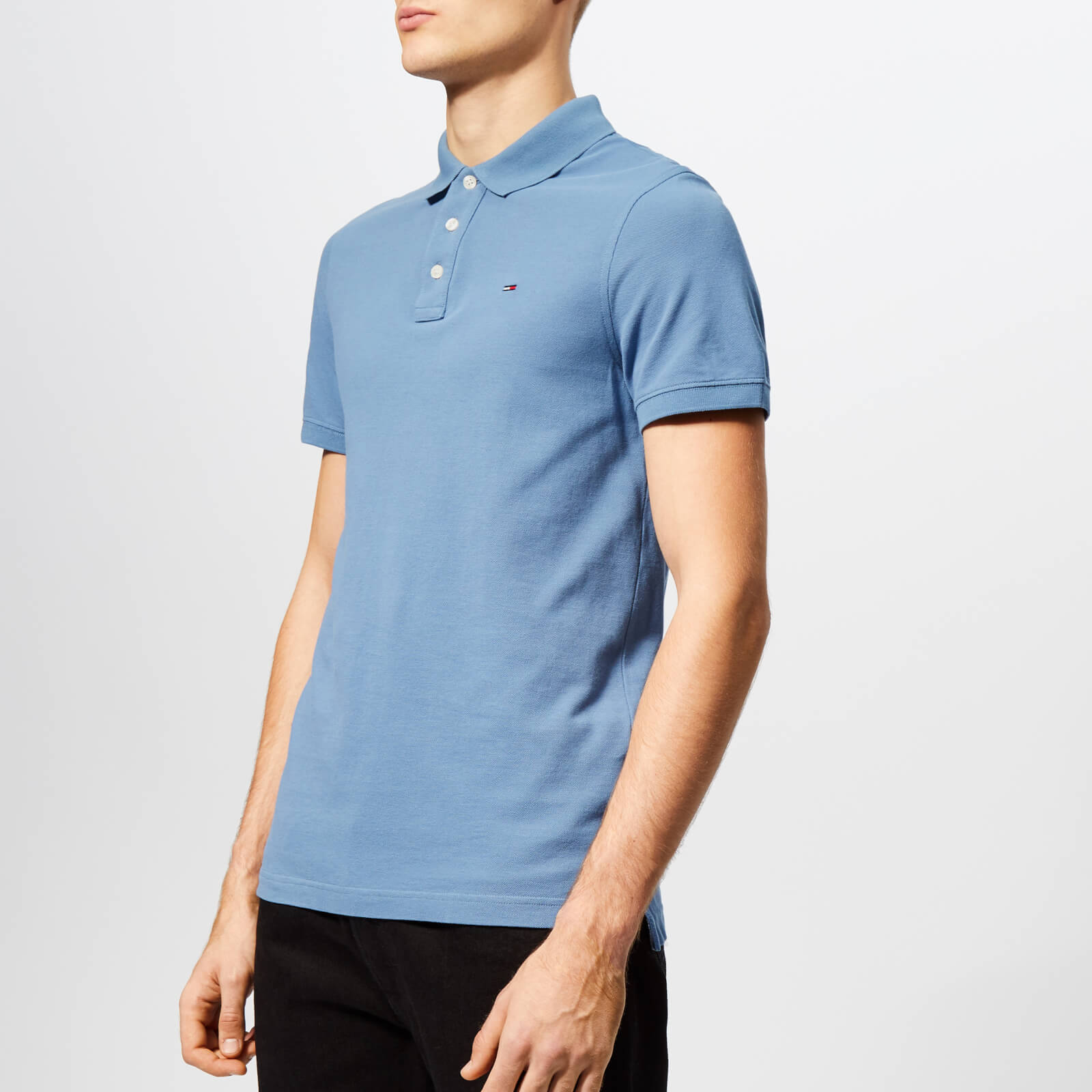 1464bb717 Tommy Jeans Men s Essential Polo Shirt - Coronet Blue Clothing ...